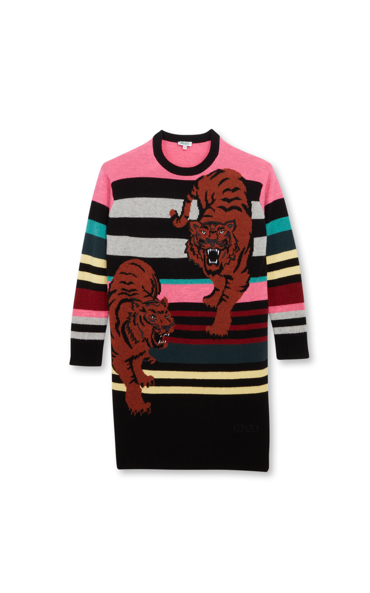 Kenzo Multicoloured double tiger dress