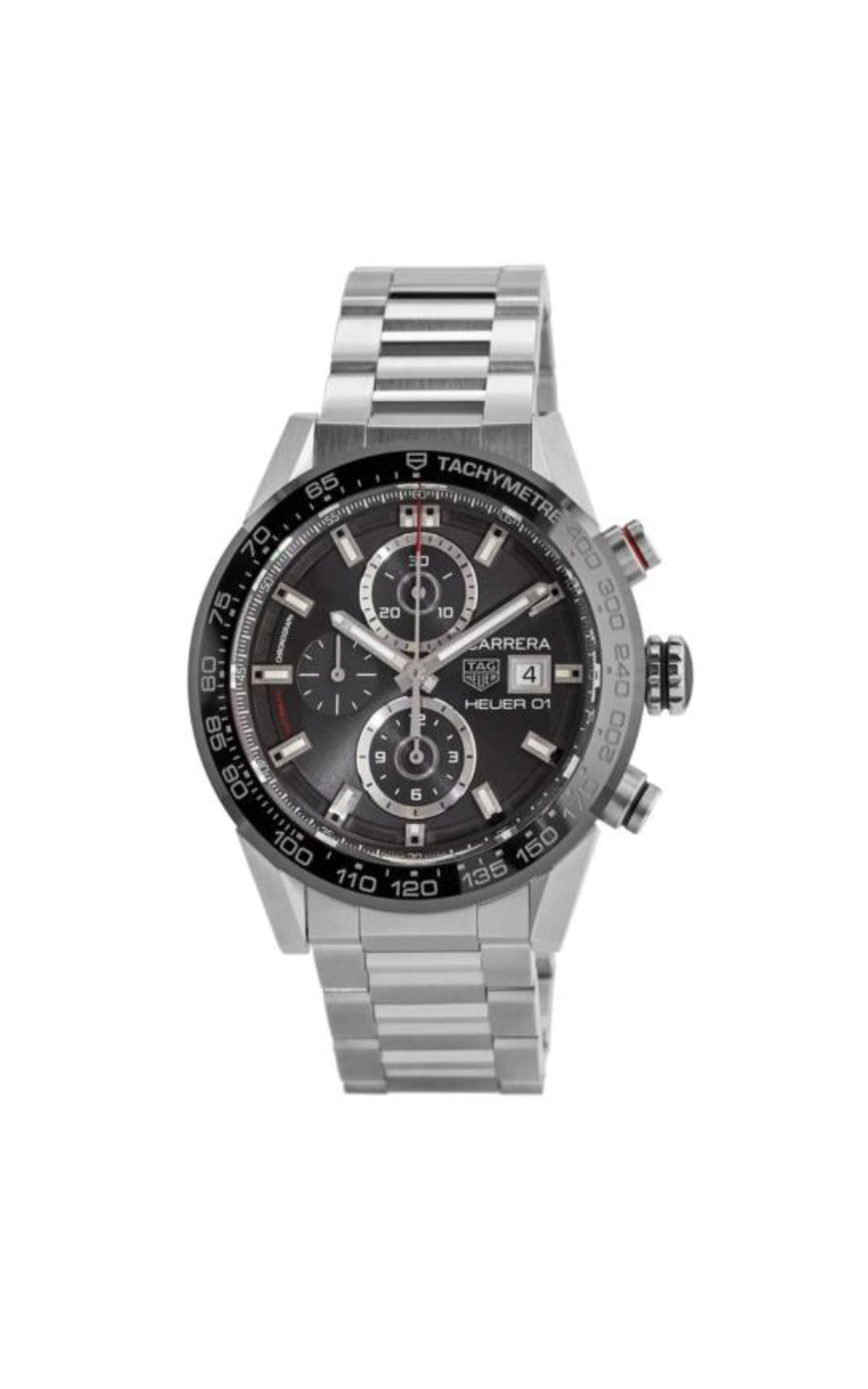 Silver and black watch for man TAG Heuer