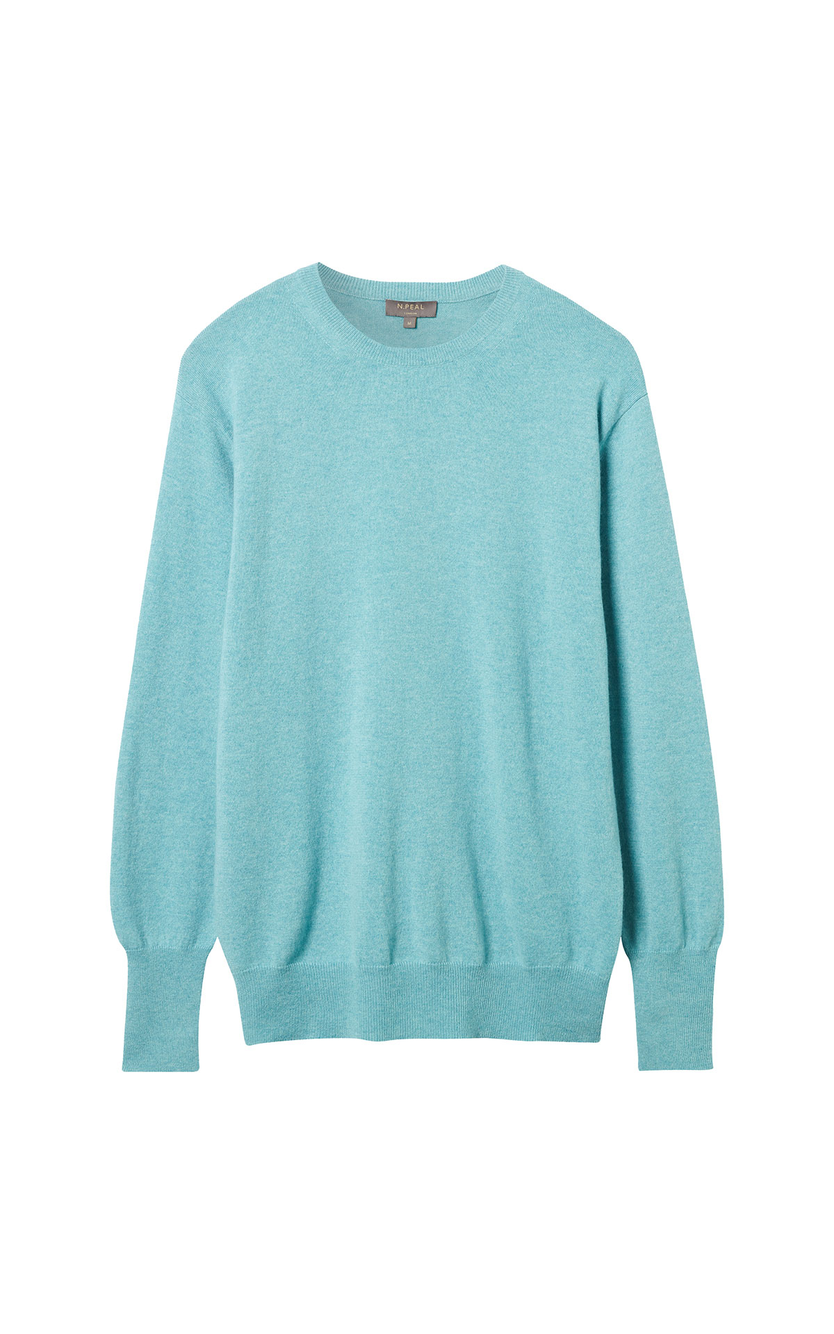 N.Peal Round neck sweater aqua from Bicester Village