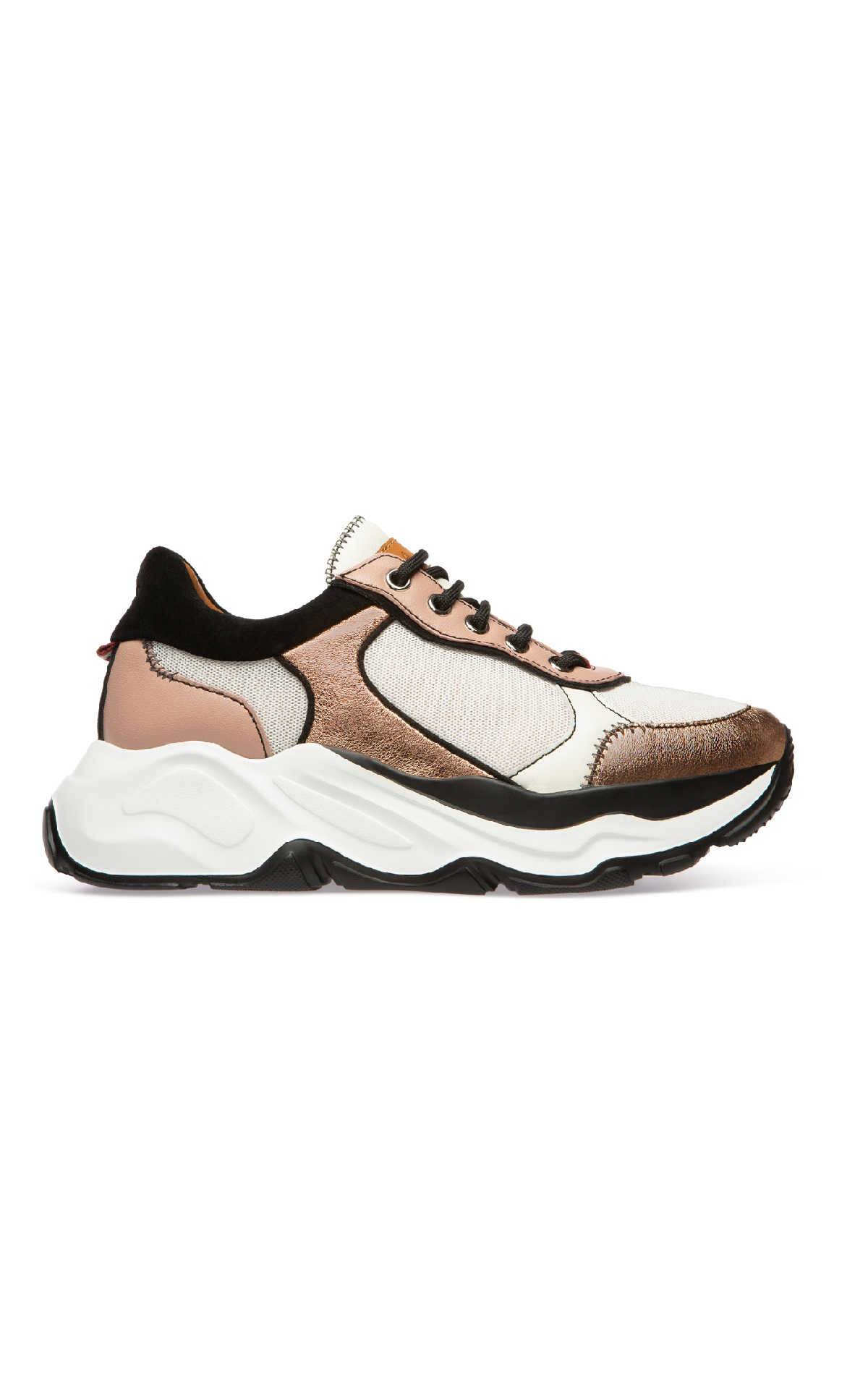 Pink and white sneakers for woman Bally