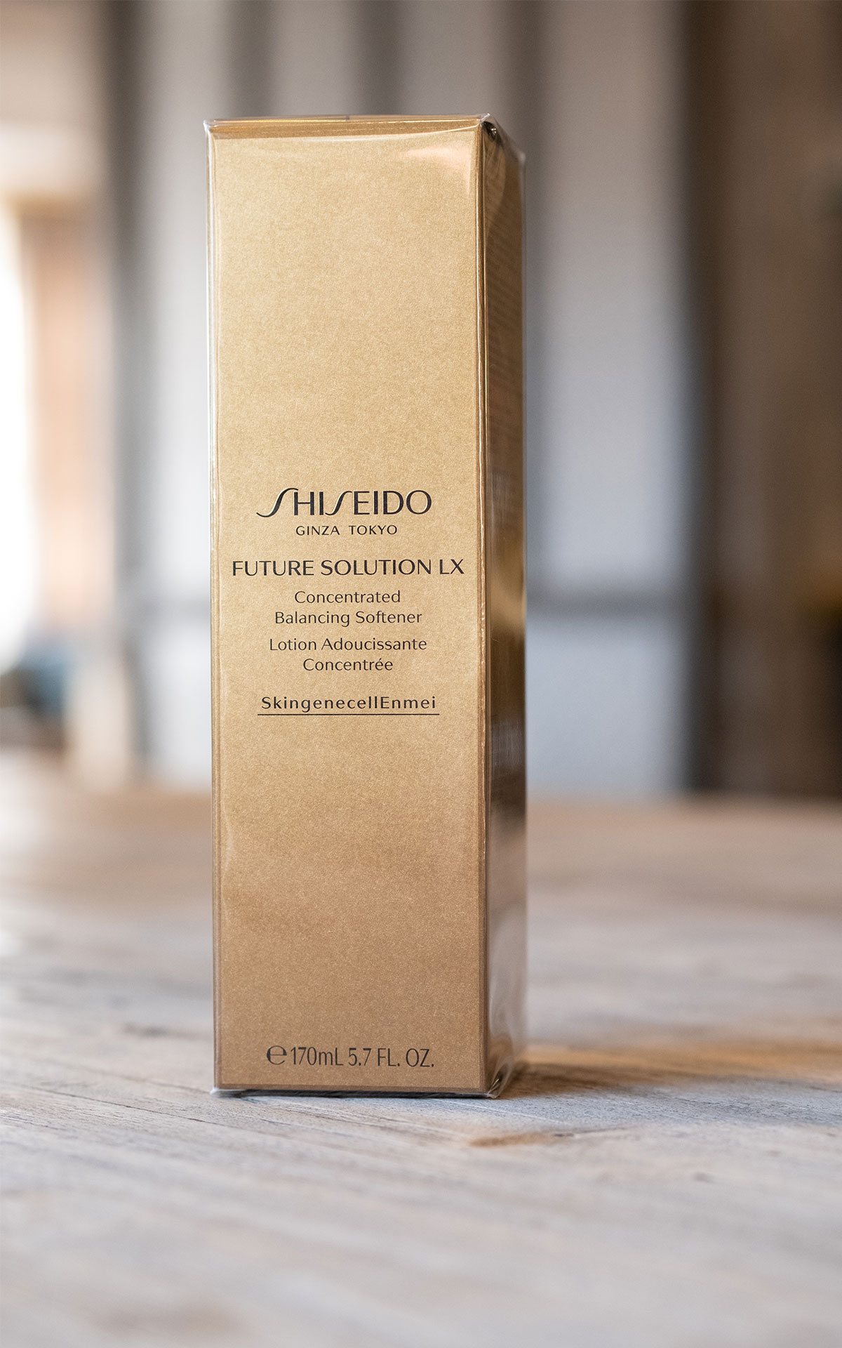 Beaute Prestige International Shiseido Future solution LX balancing softener from Bicester Village