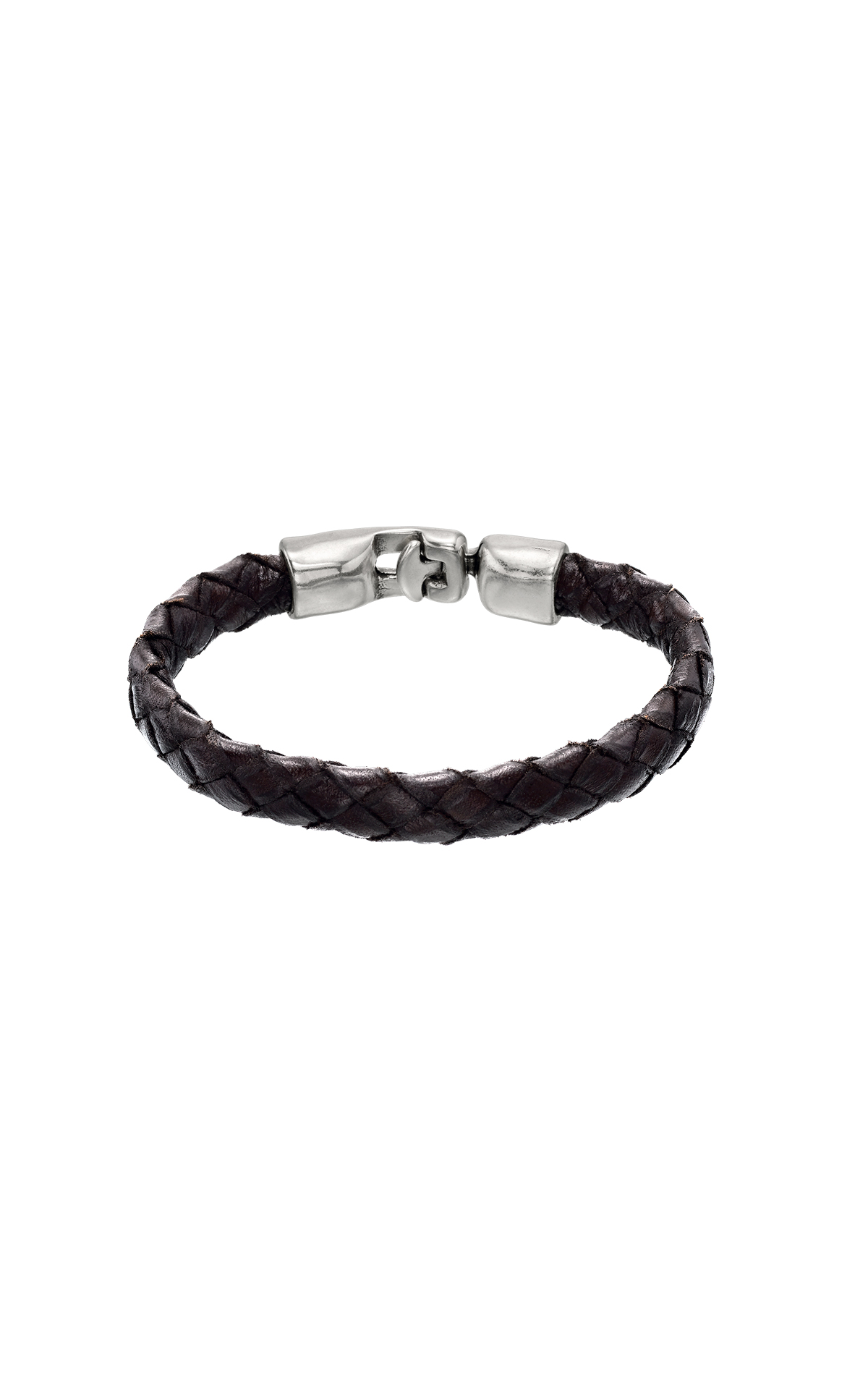 Leather braided bracelet UNOde50