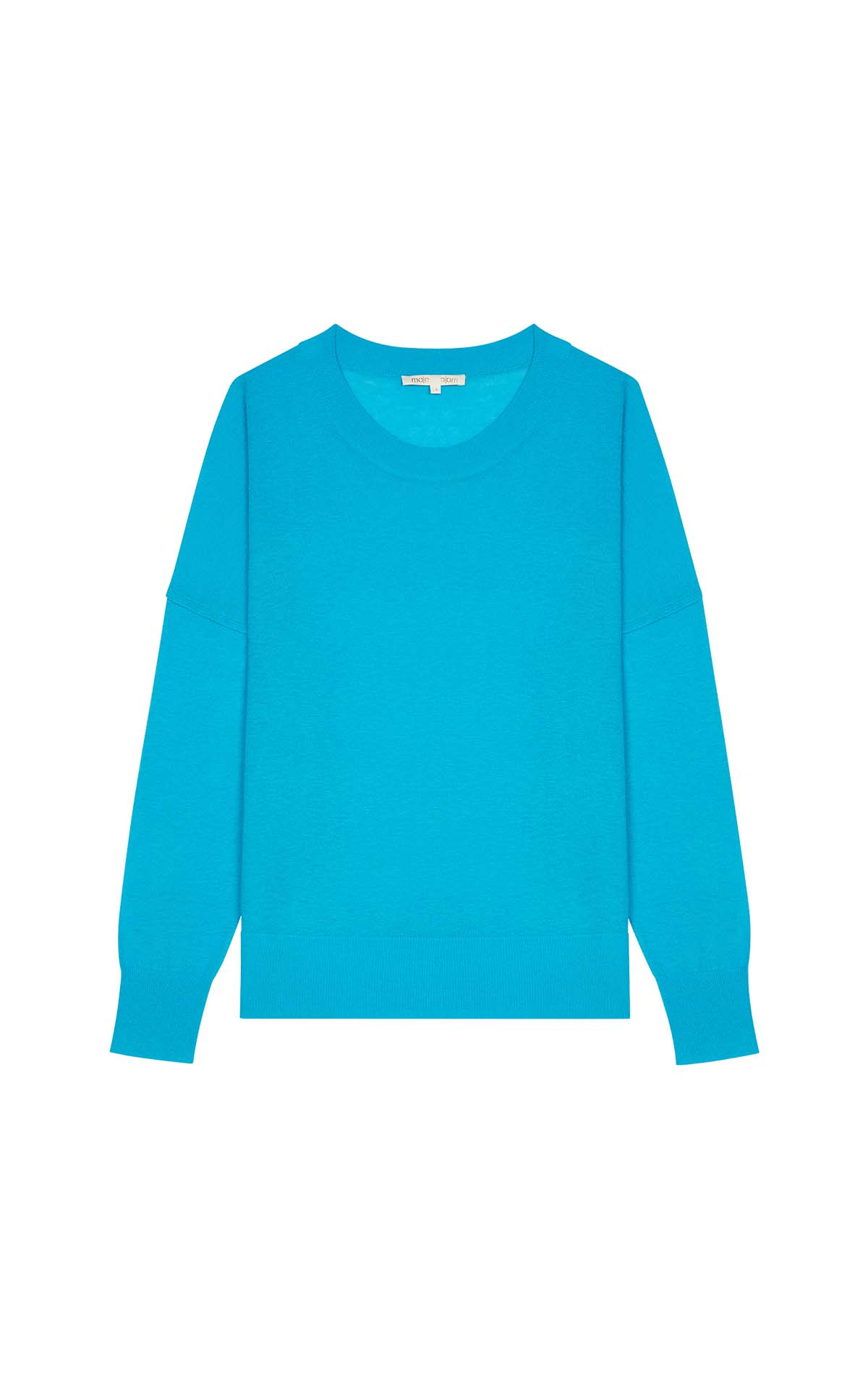 Blue Oversize sweater in cashmere for woman Maje