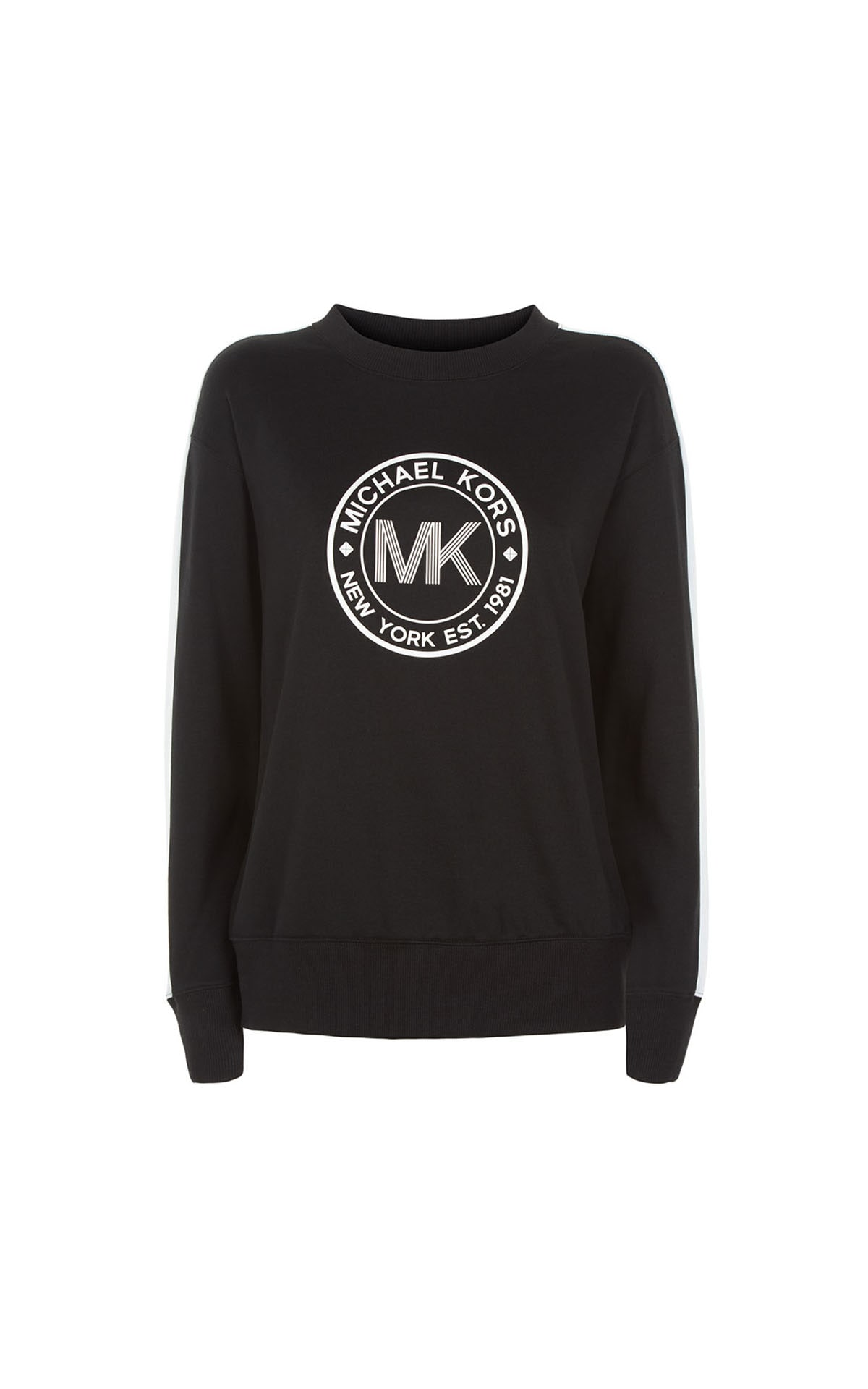 Michael Kors athleisure round logo sweater neck