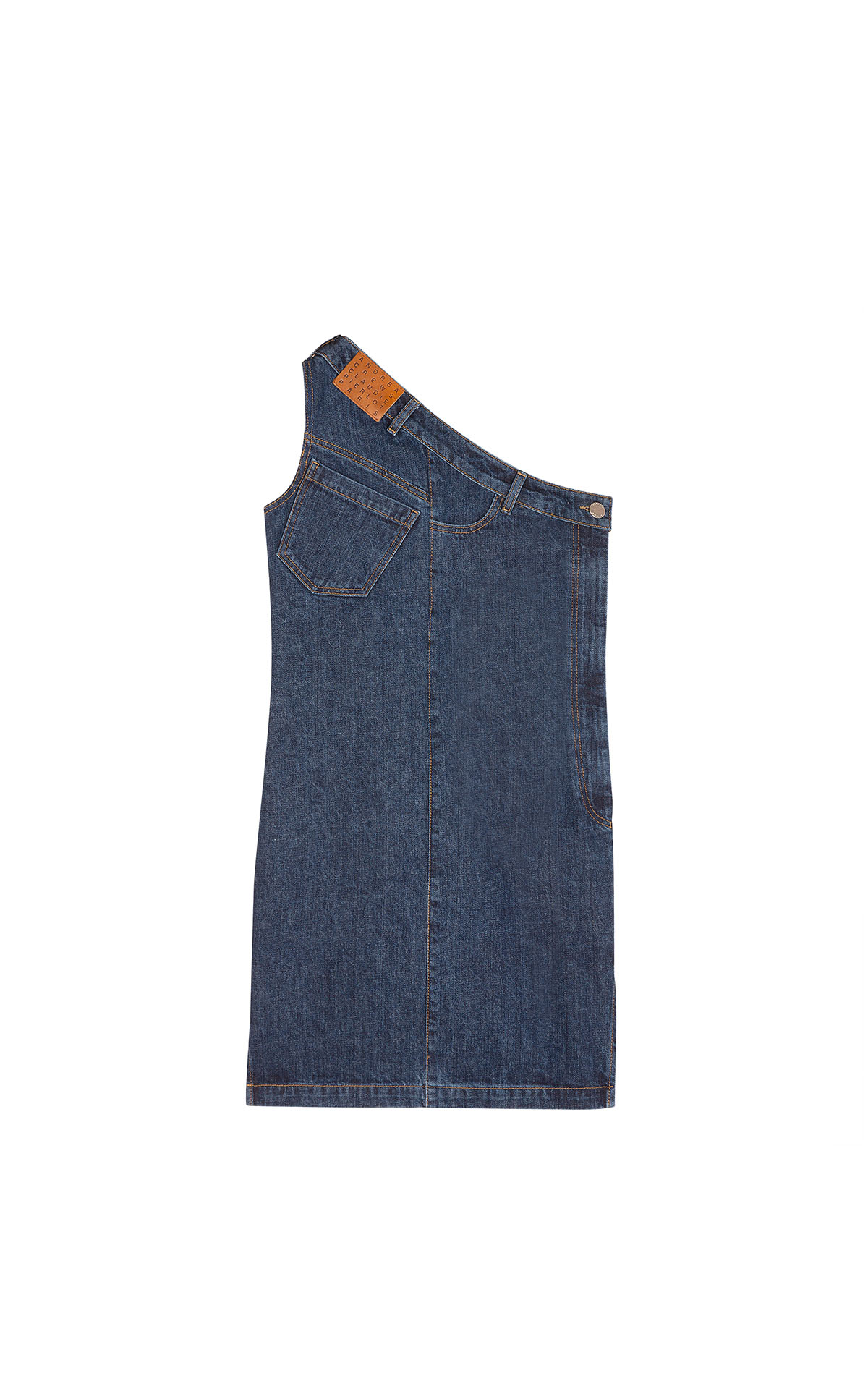 Claudie Pierlot reworked asymetrical denim dress at the bicester village shopping collection
