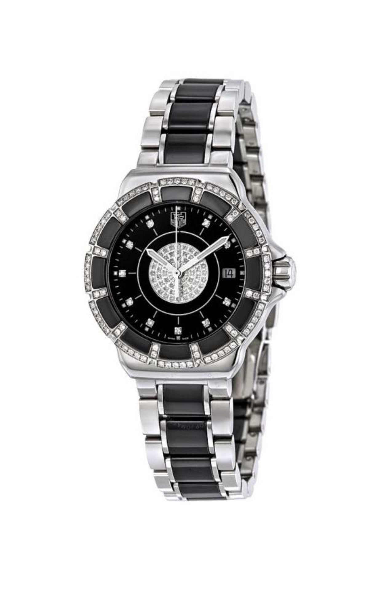 Black and silver watch for woman TAG Heuer