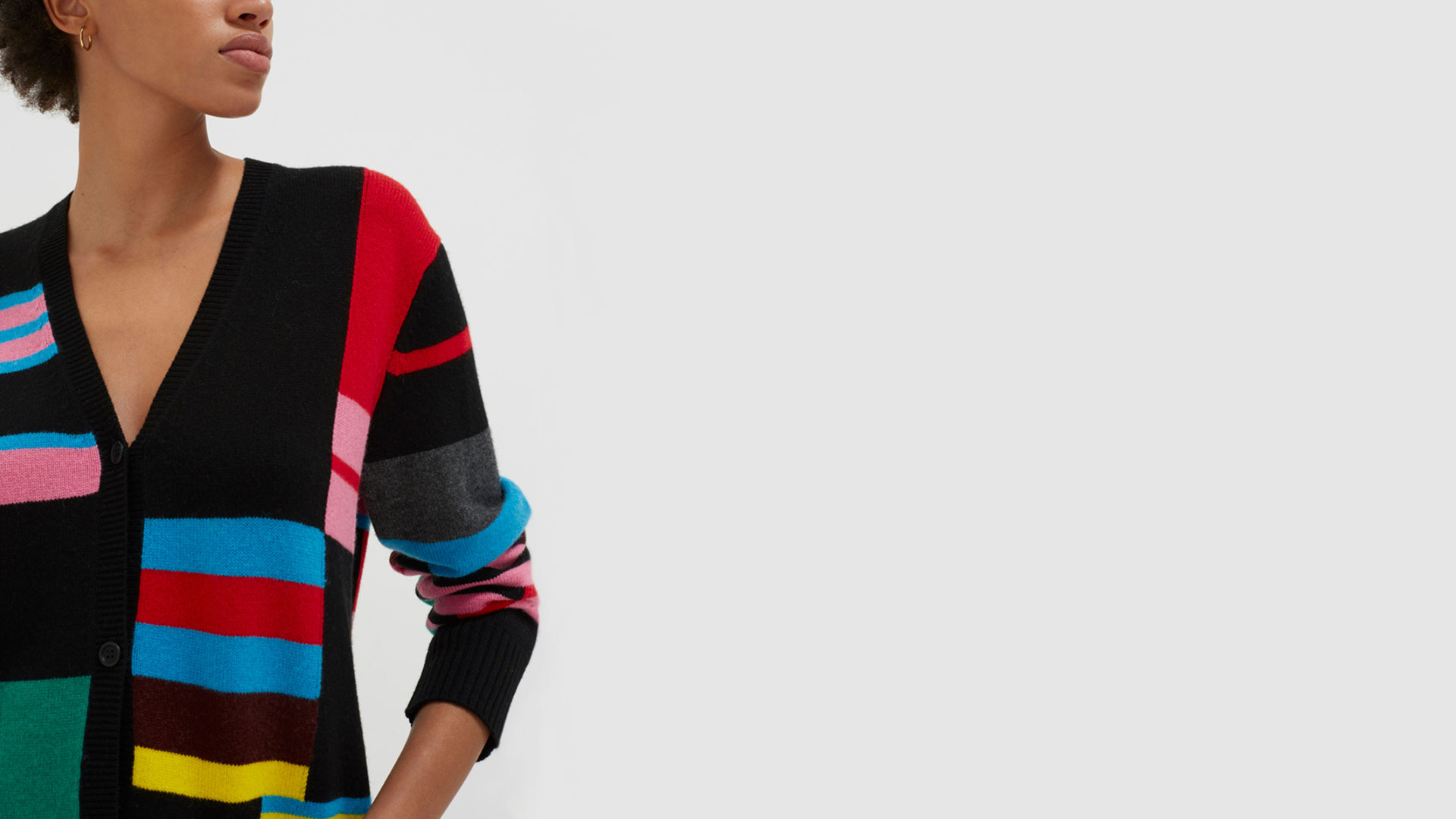 Chinti & Parker main image colour block jumper at Bicester Village
