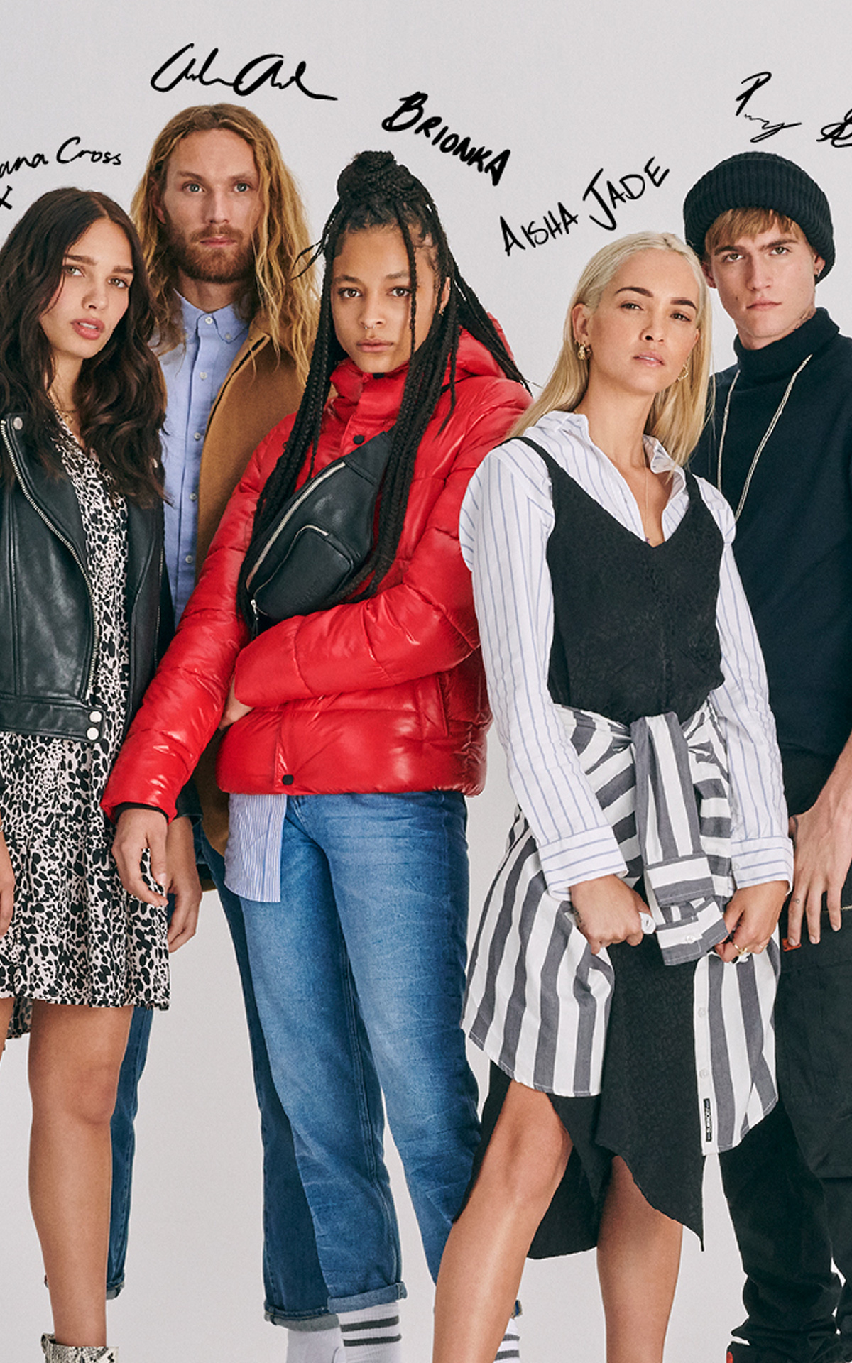 Models in superdry attire