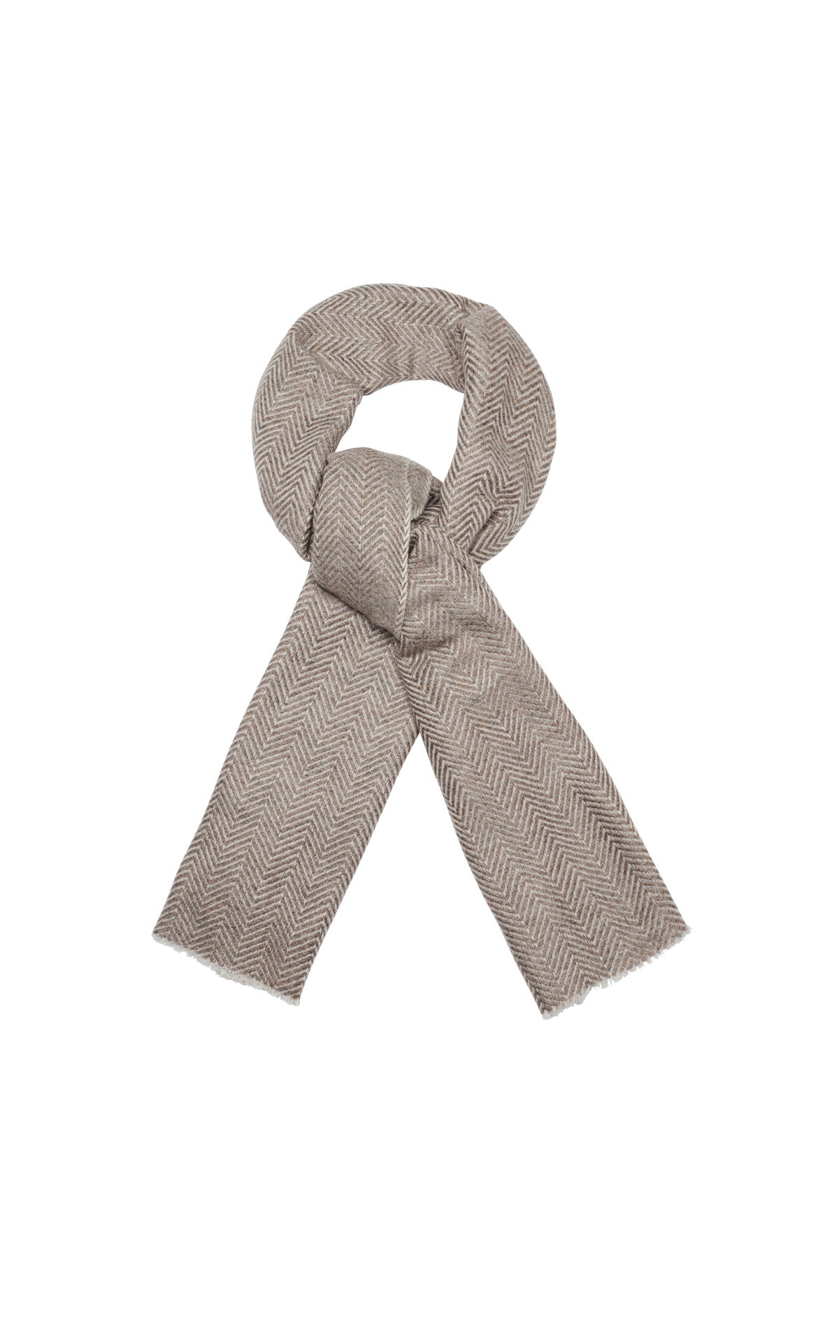 Bamford  Heavy wide herringbone scarf from Bicester Village