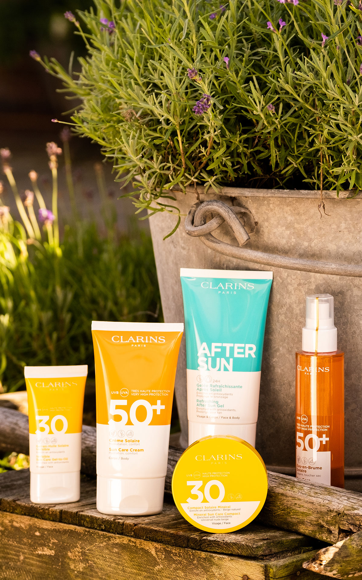 Clarins SPF collection from Bicester Village