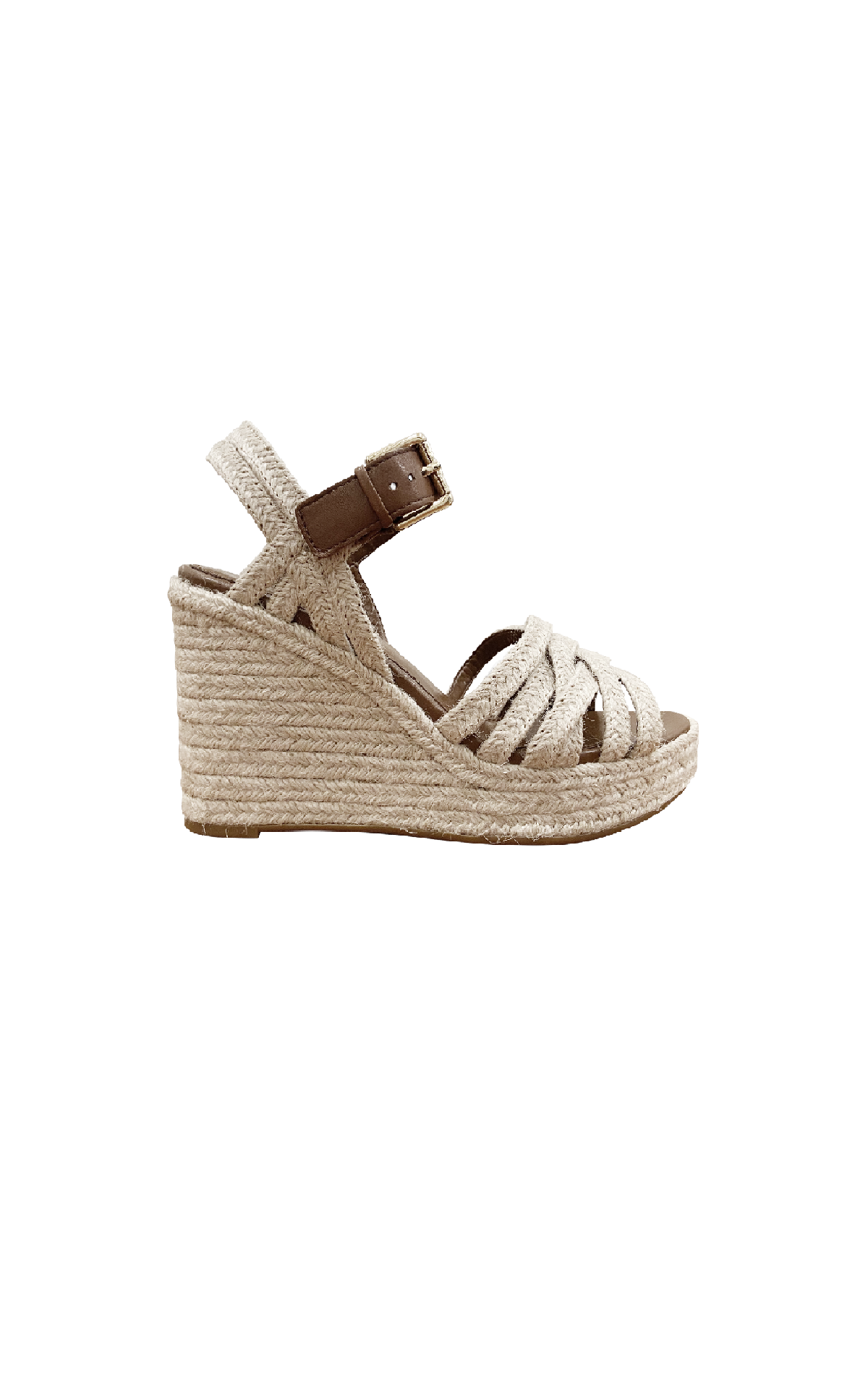 Beige esparto sandal with platform Polo Ralph Lauren