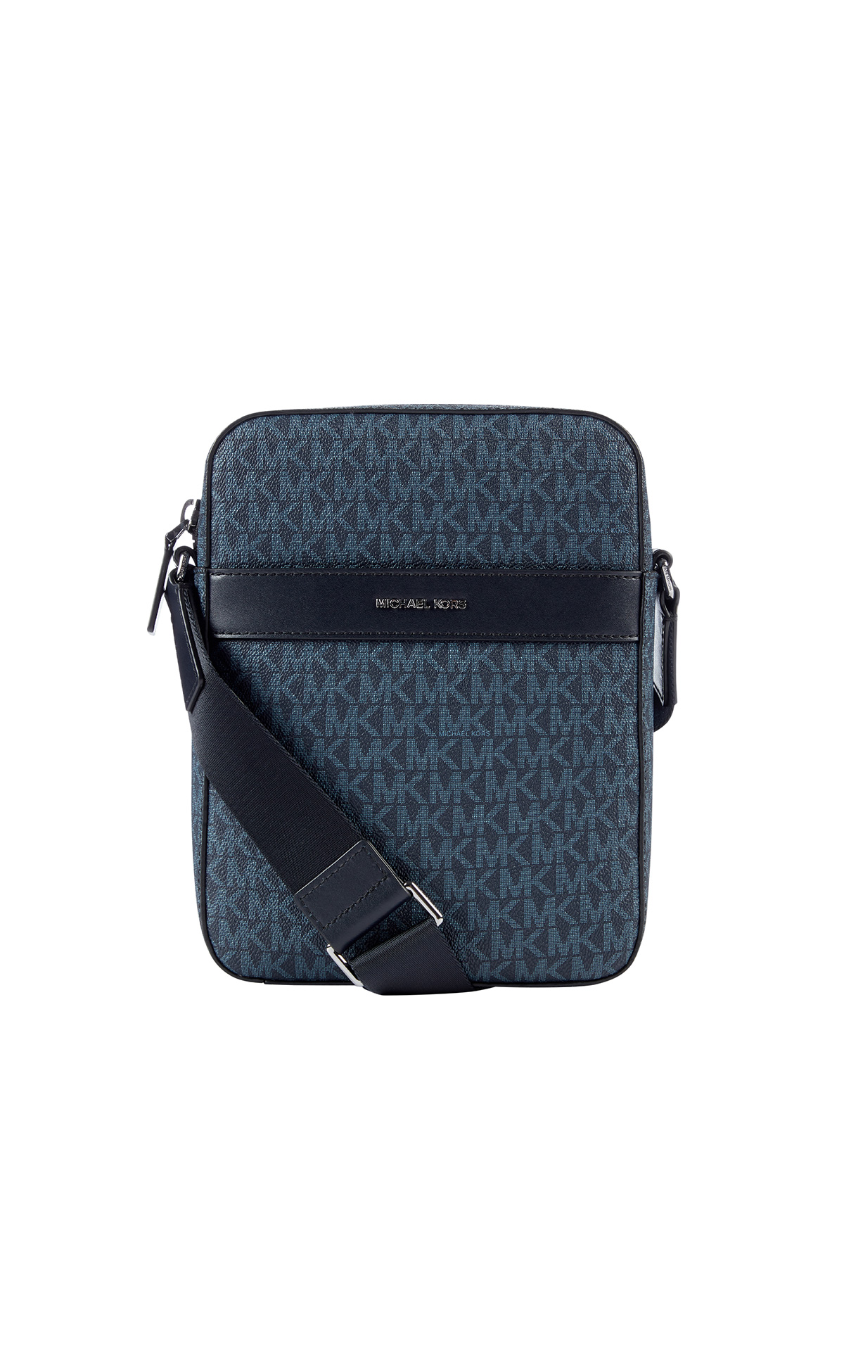 Michael Kors Mens Cooper flight bag in admiral blue at The Bicester Village Shopping Collection