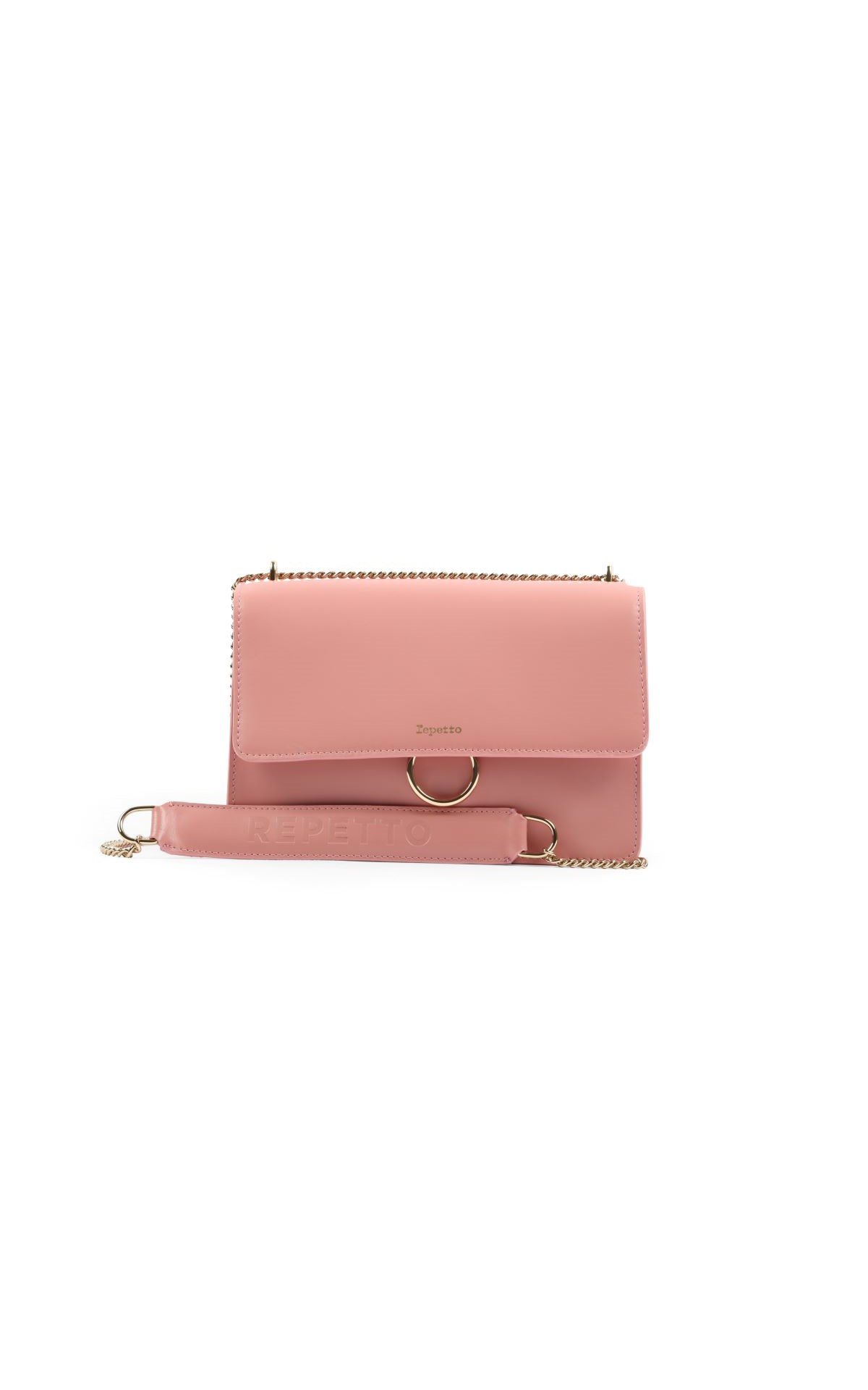 La Vallée Village Repetto Rose Dragée Triple Jeu bag