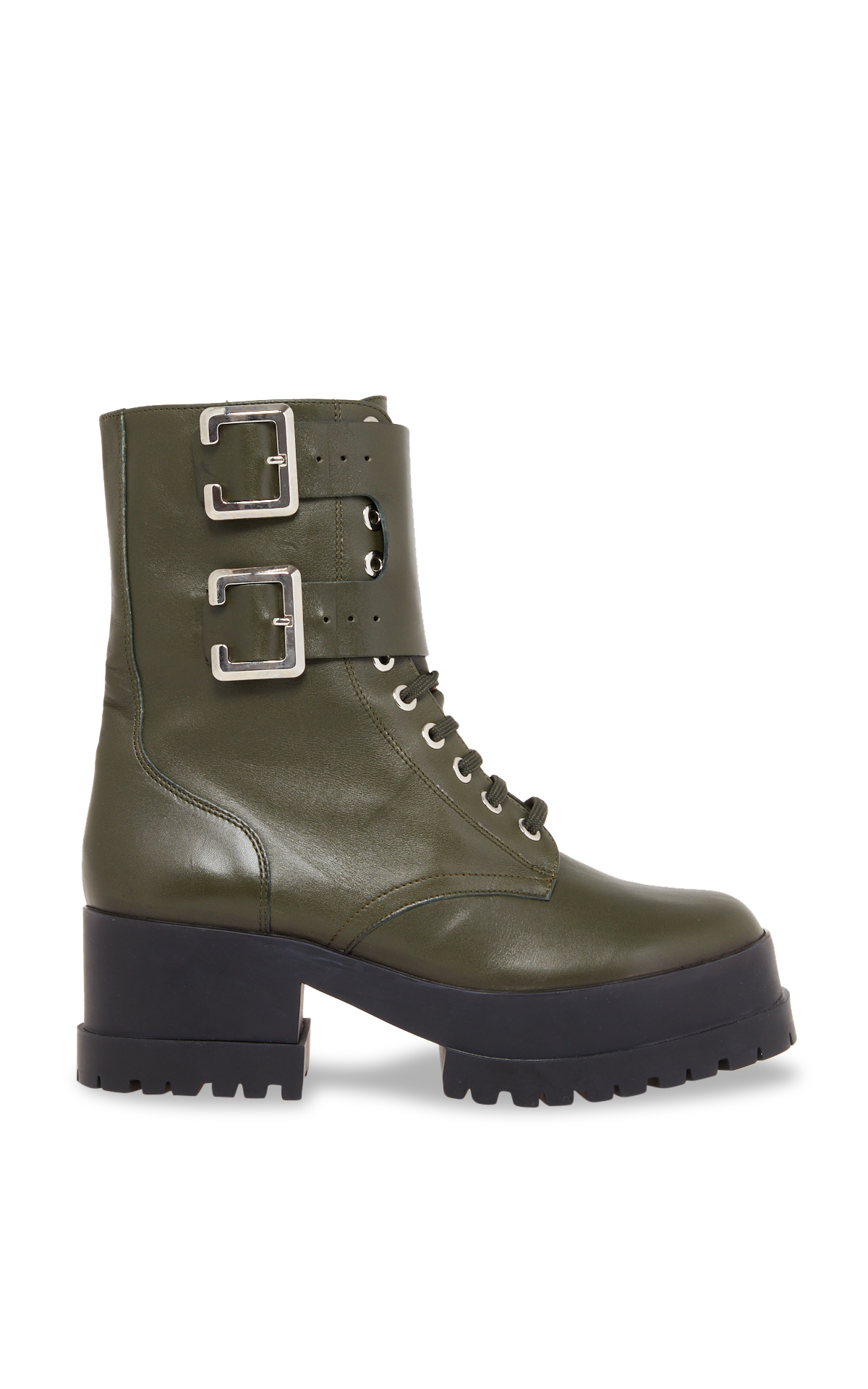 Clergerie Paris Bottines rangers kaki