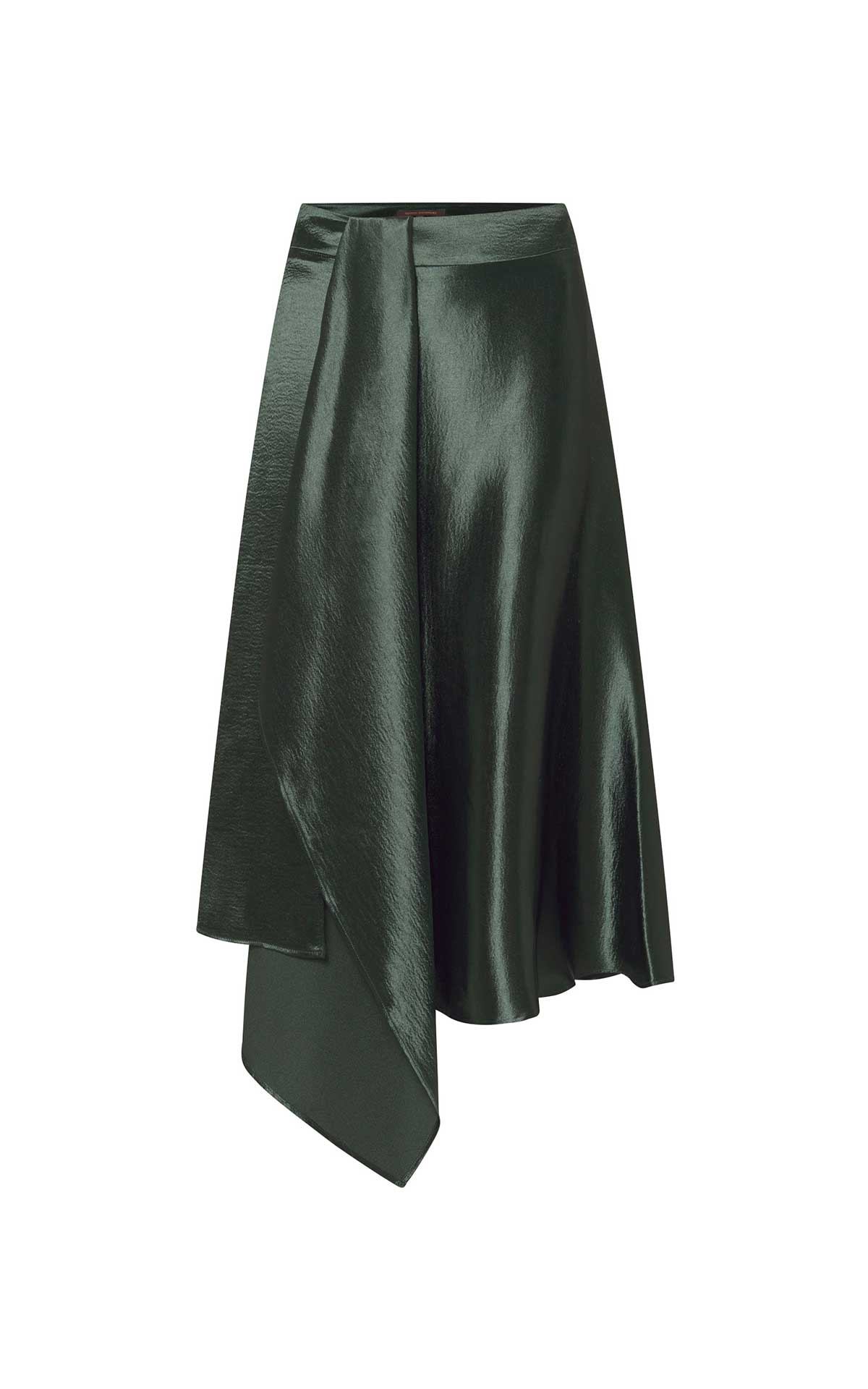 Green satin skirt Adolfo Dominguez