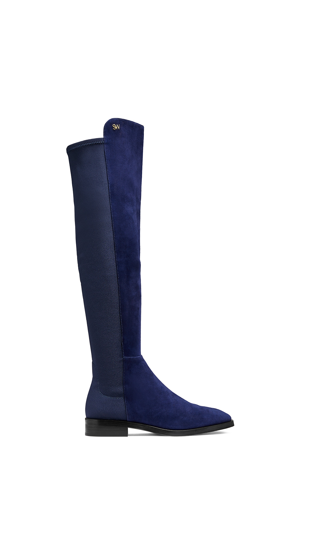Stuart Weitzman keelan nice blue at The Bicester Village Shopping Collection