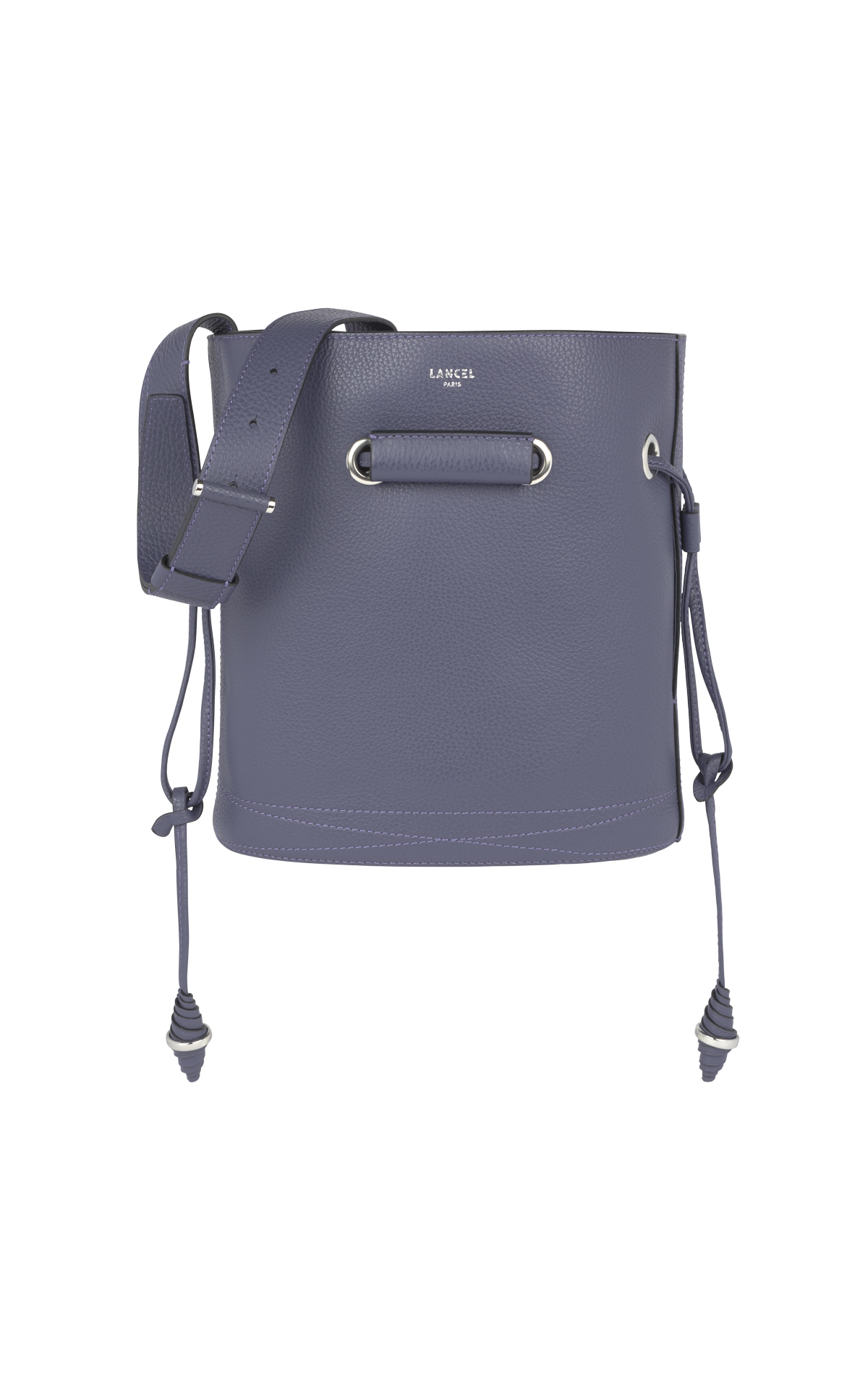 Dark purple bucket bag Lancel