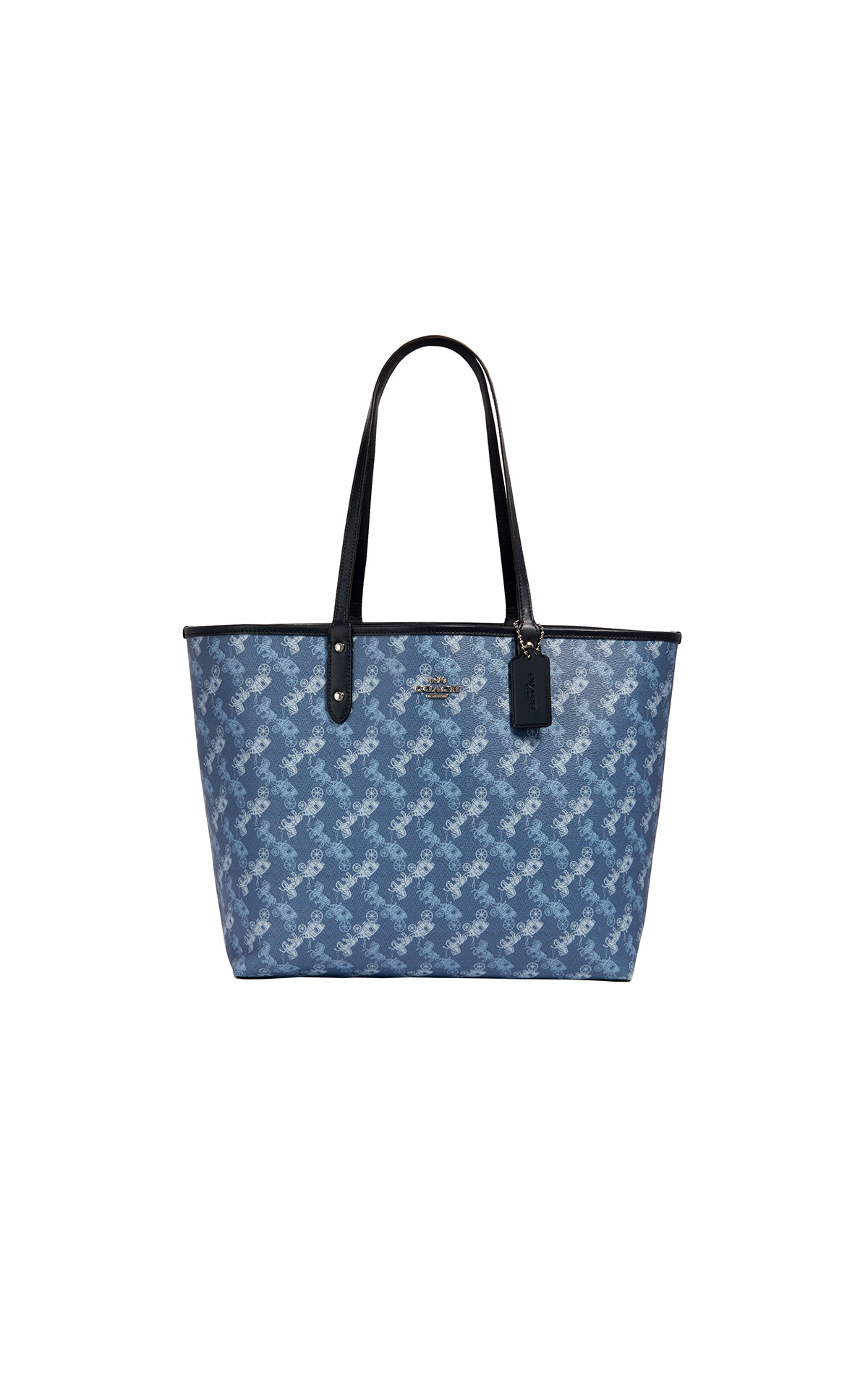 Coach Horse & Carriage print city tote in indigo pale blue multi at The Bicester Village Shopping Collection