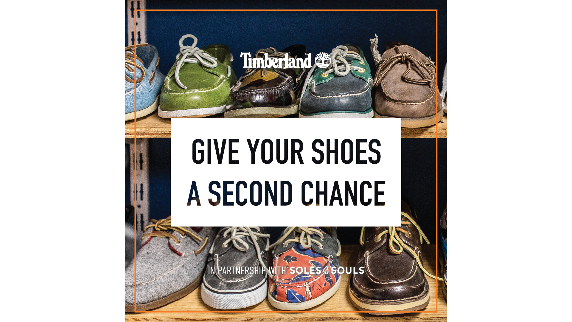 Timberland 'Give your shoes at second chance'
