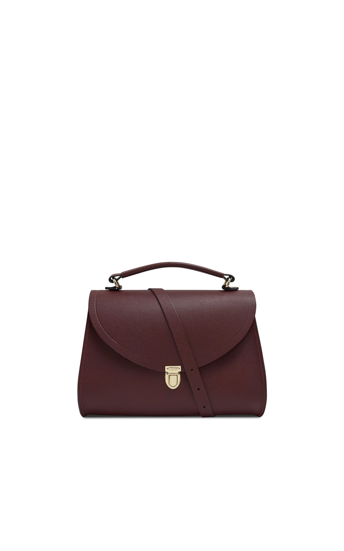 The Cambridge Satchel Company Poppy bag mustard saffiano from Bicester Village