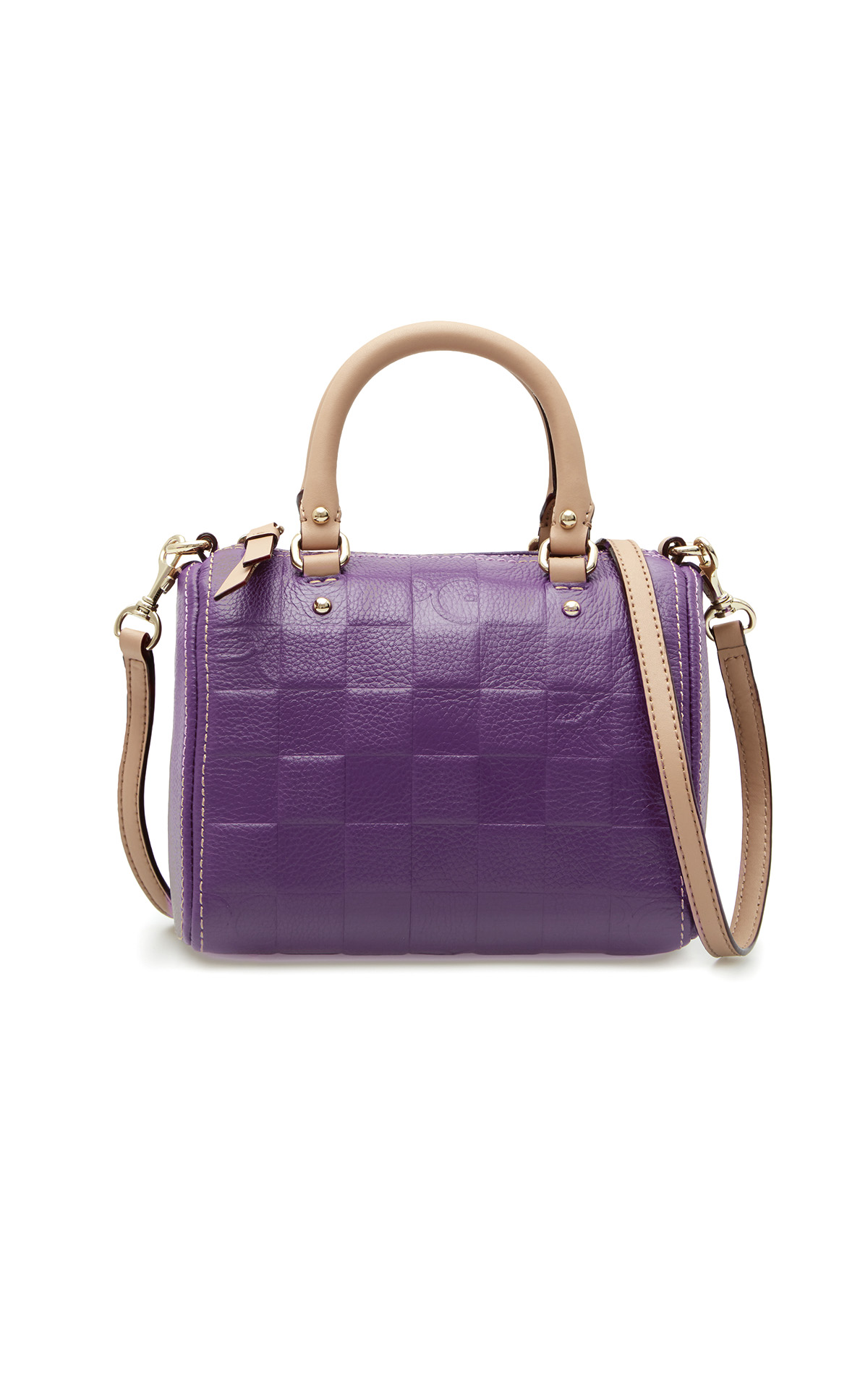Purple leather bag Purificacion Garcia