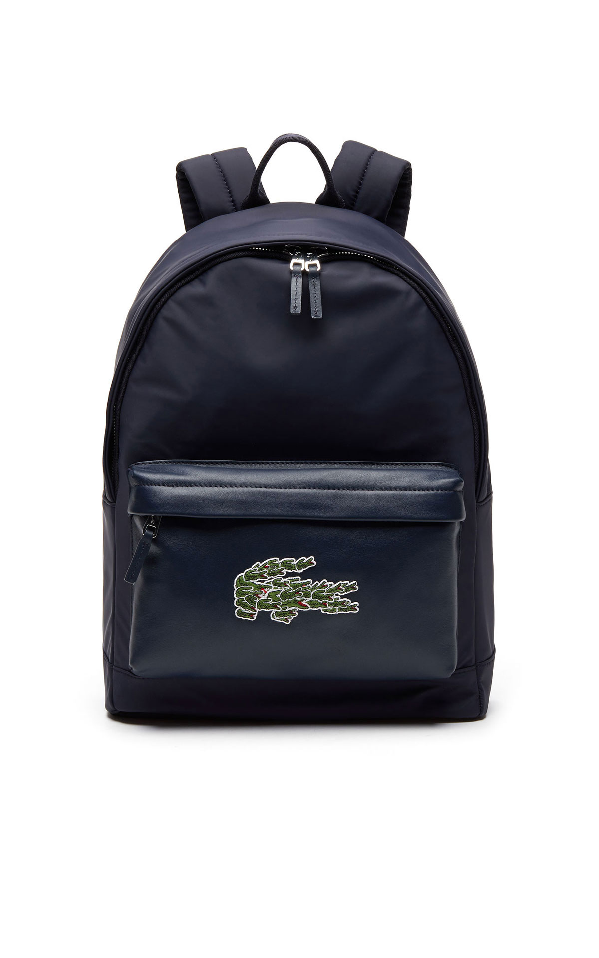 Navy blue Leather backpack from Lacoste