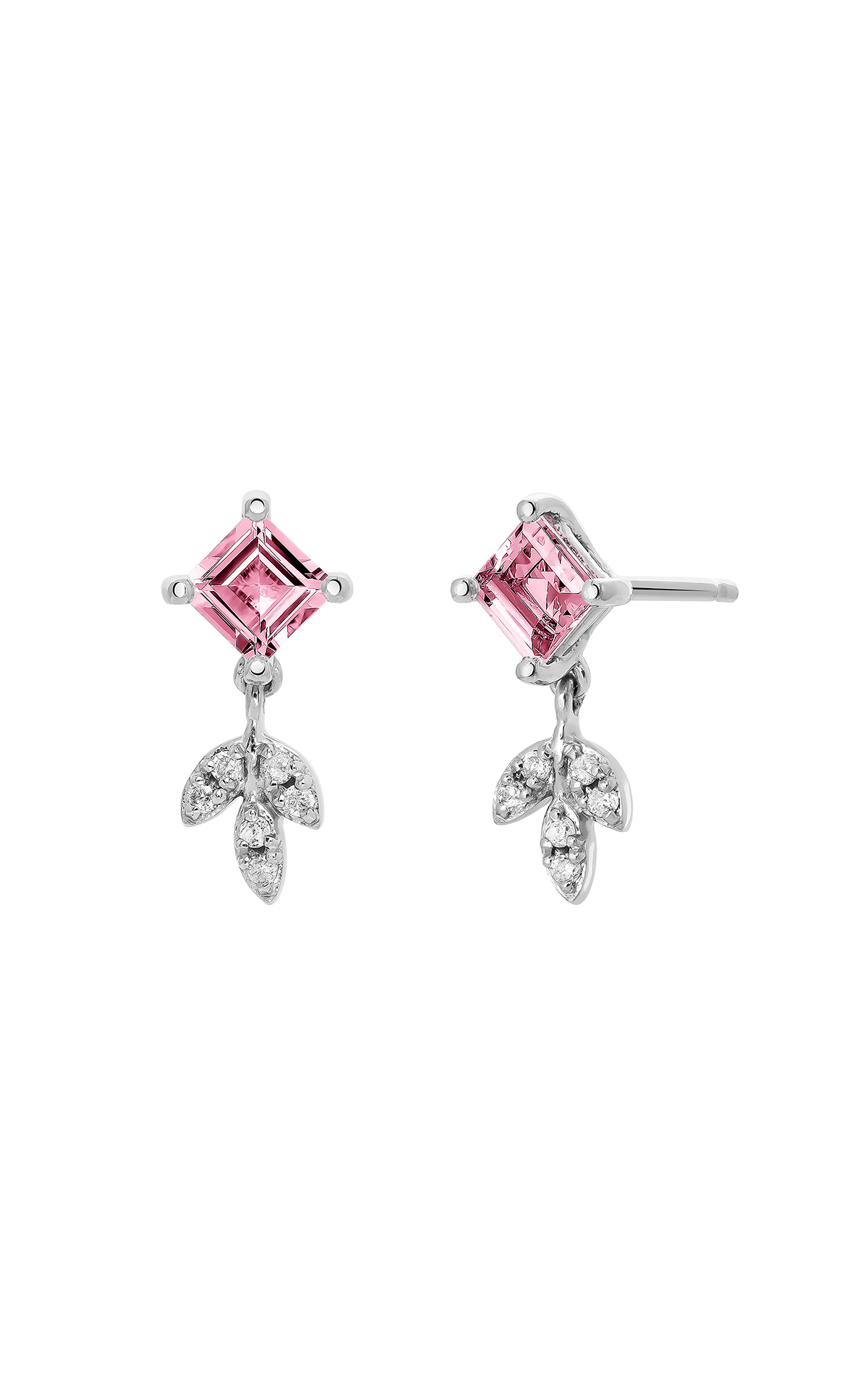 Earrings with pink stone Aristocrazy