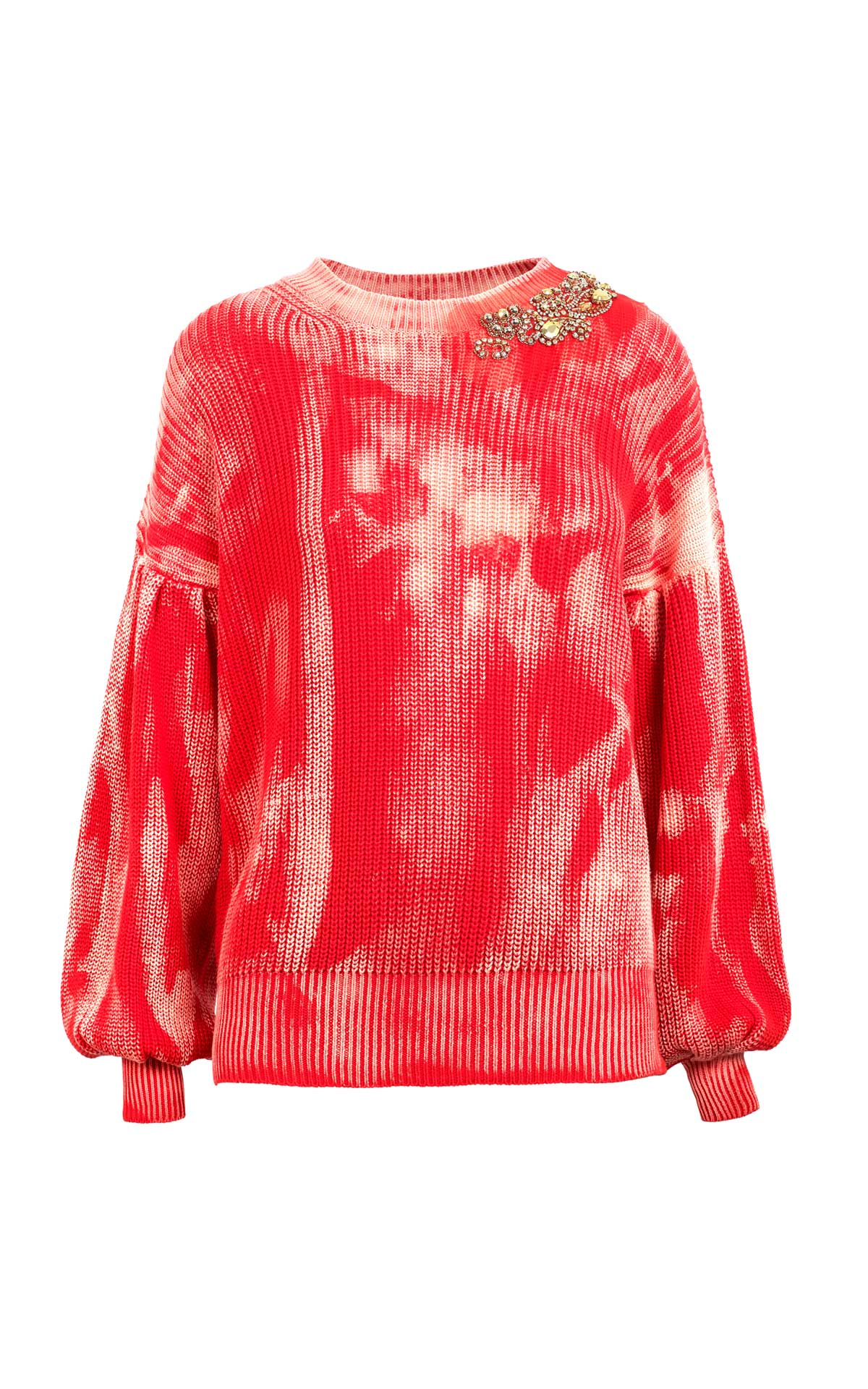 Orange tie-dye sweater Pinko