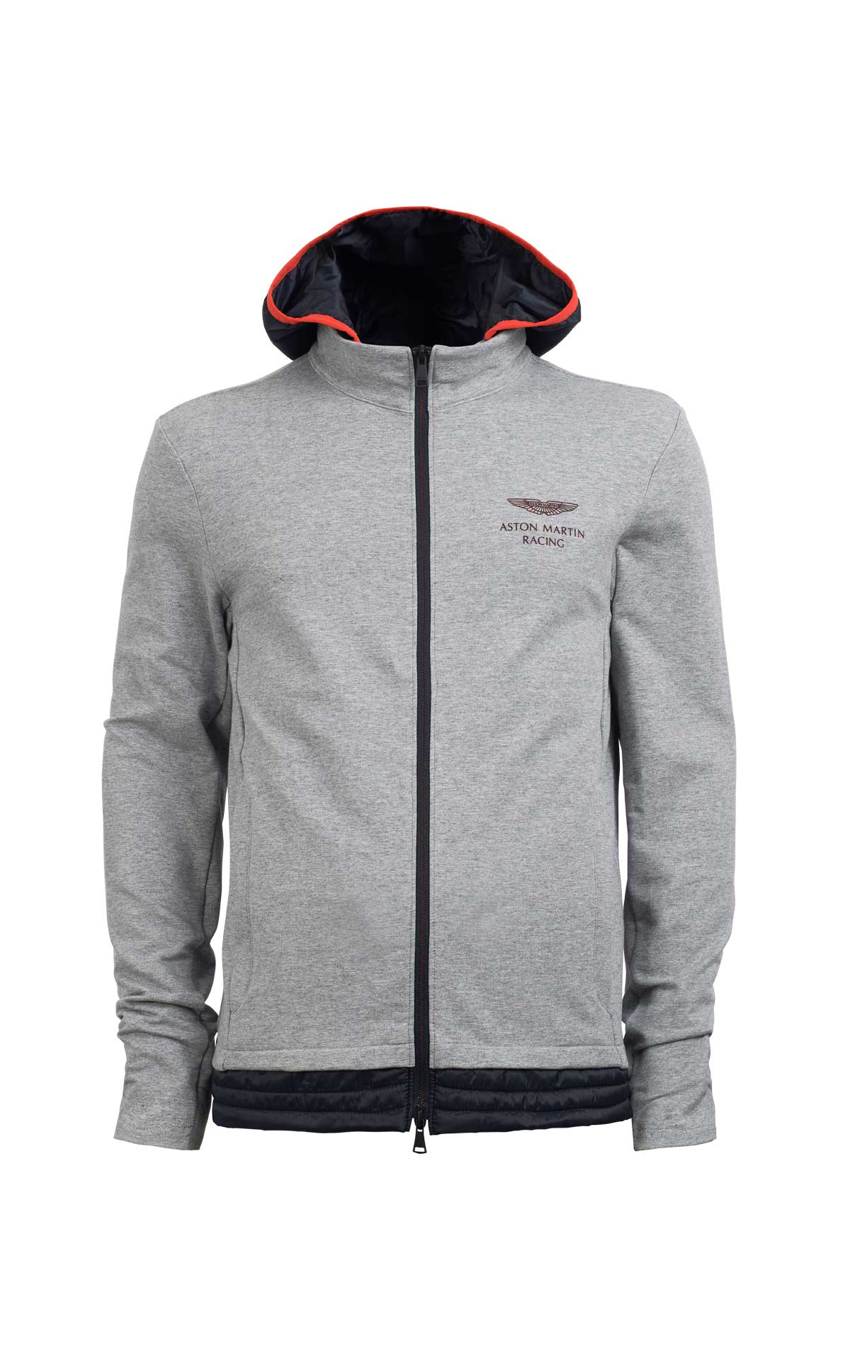 Grey hoodie with zip Hackett