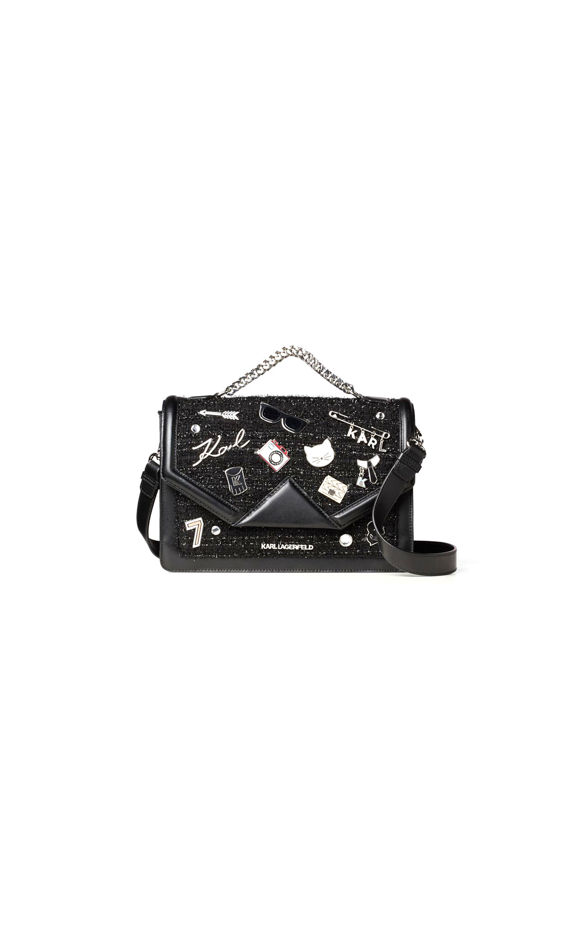 Karl Lagerfeld klassic pins shoulder bag at The Bicester Village Shopping Collection