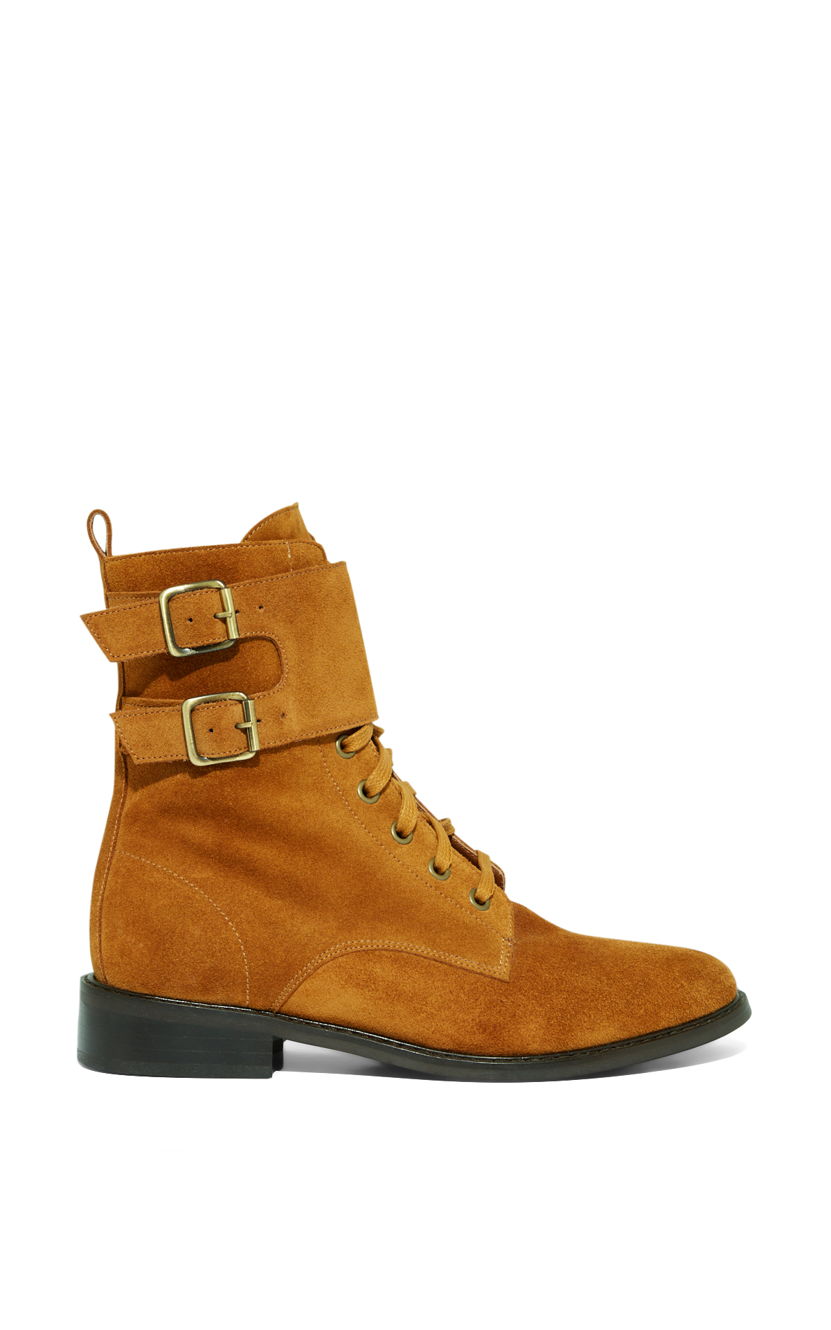 Ba&sh Bottines Scomo couleur Cognac la vallée village