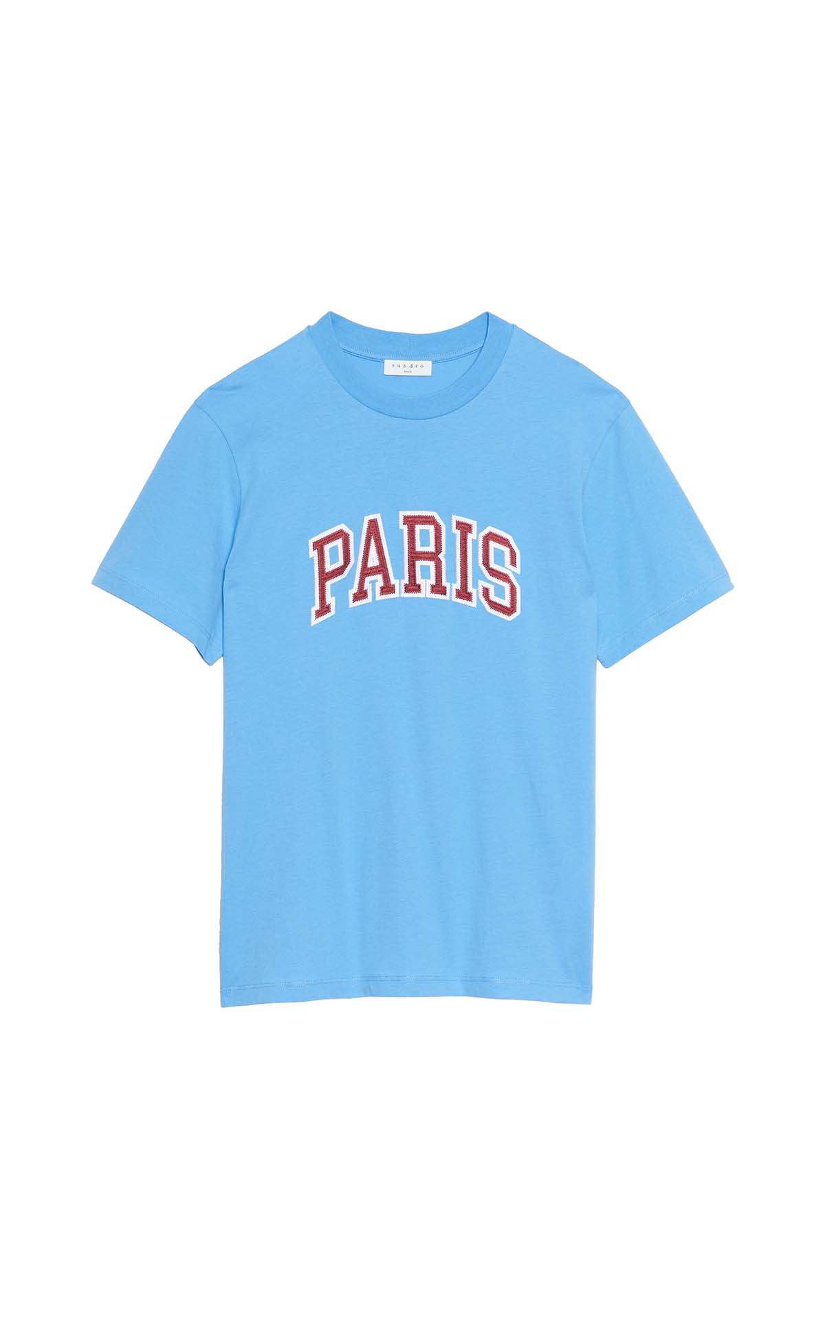 Sandro Sky blue t-shirt at The Bicester Village Shopping Collection