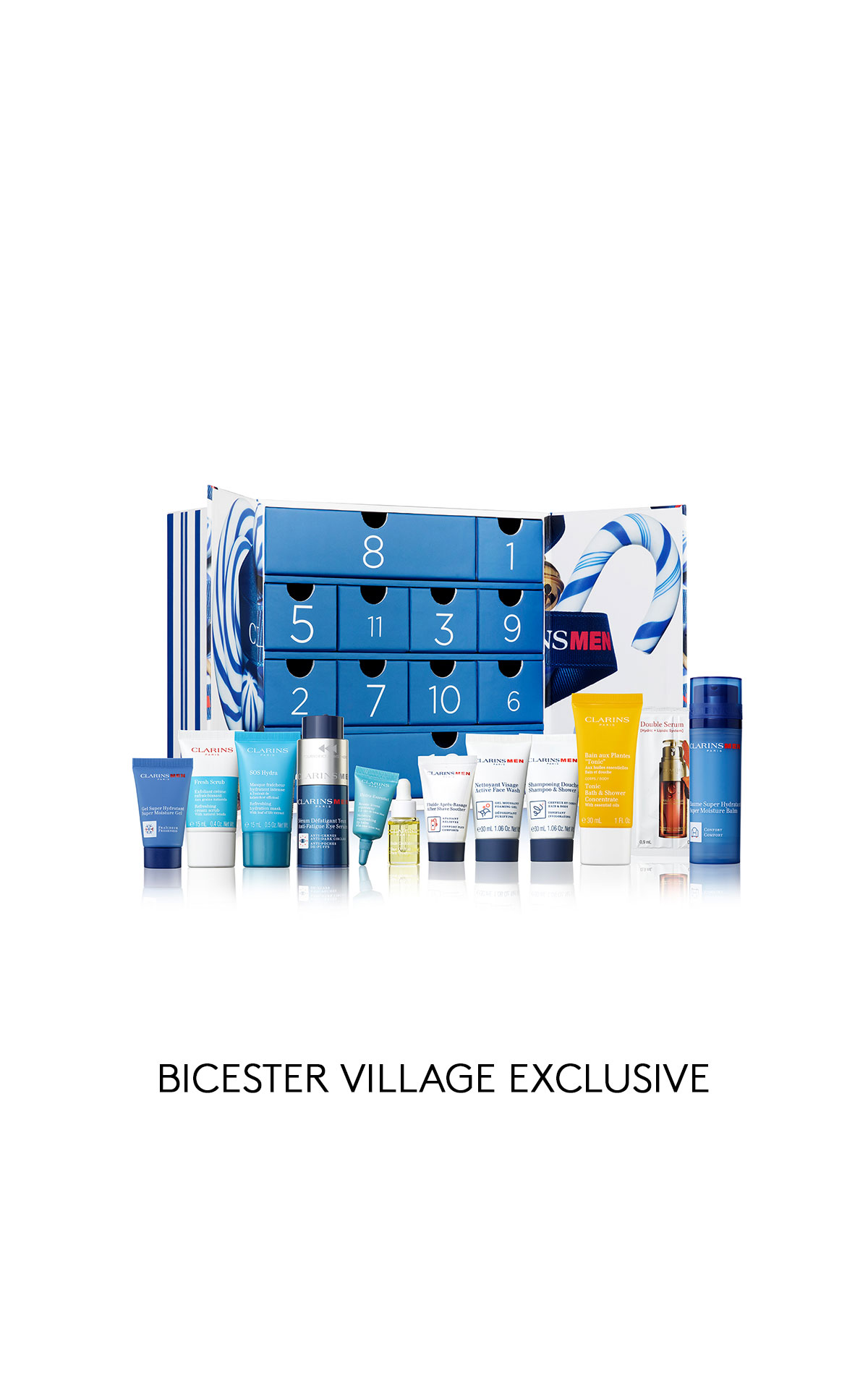 Clarins Men's advent calendar from Bicester Village