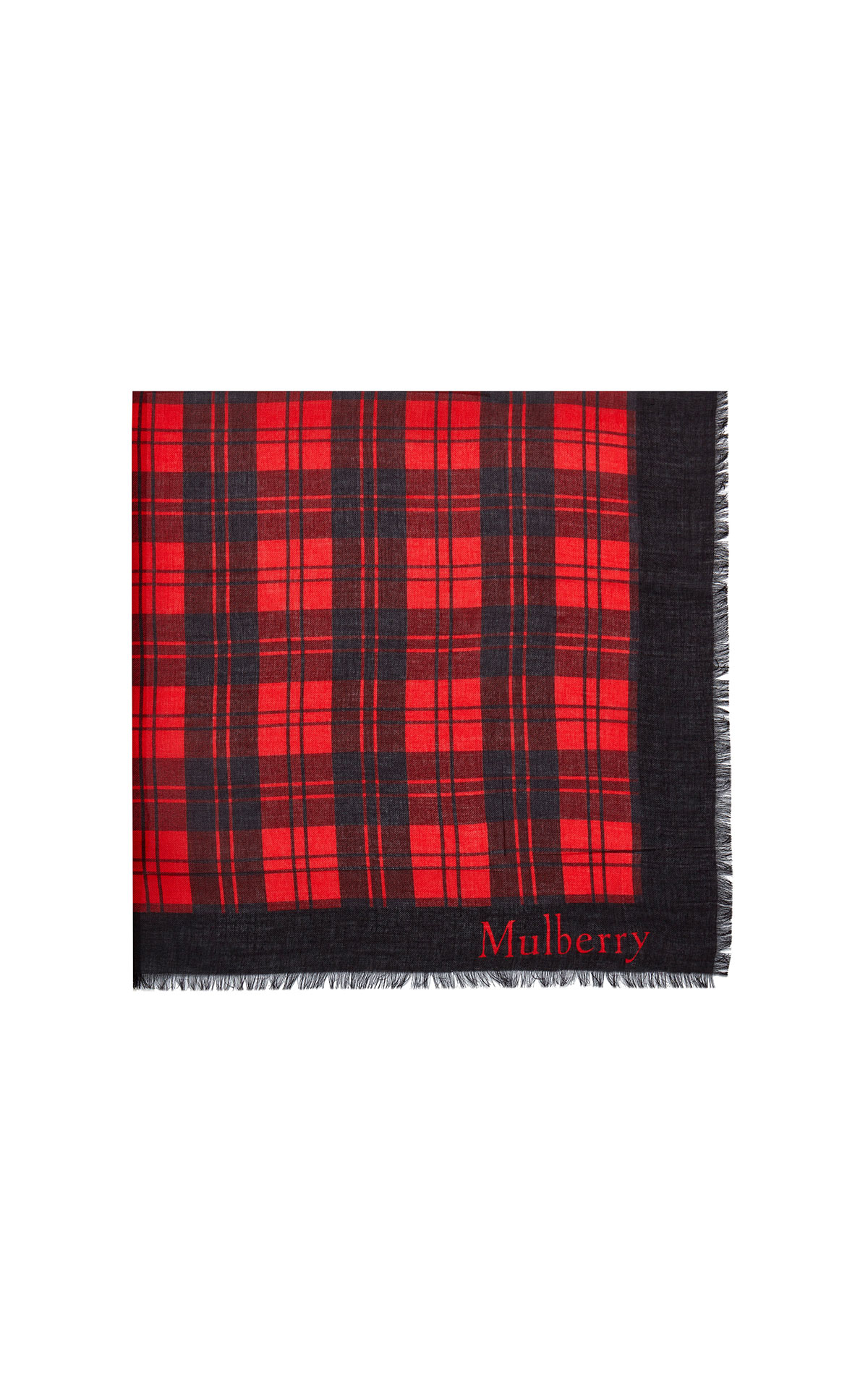 Mulberry Tartan check with signature 140 scarlet from Bicester Village