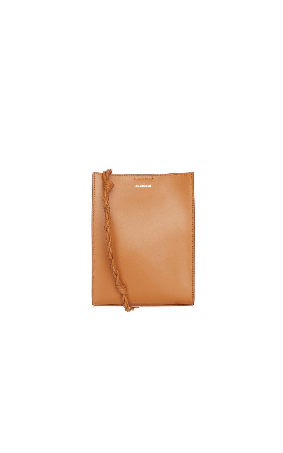 Jil Sander Small Tangle bag in ocre from Bicester Village