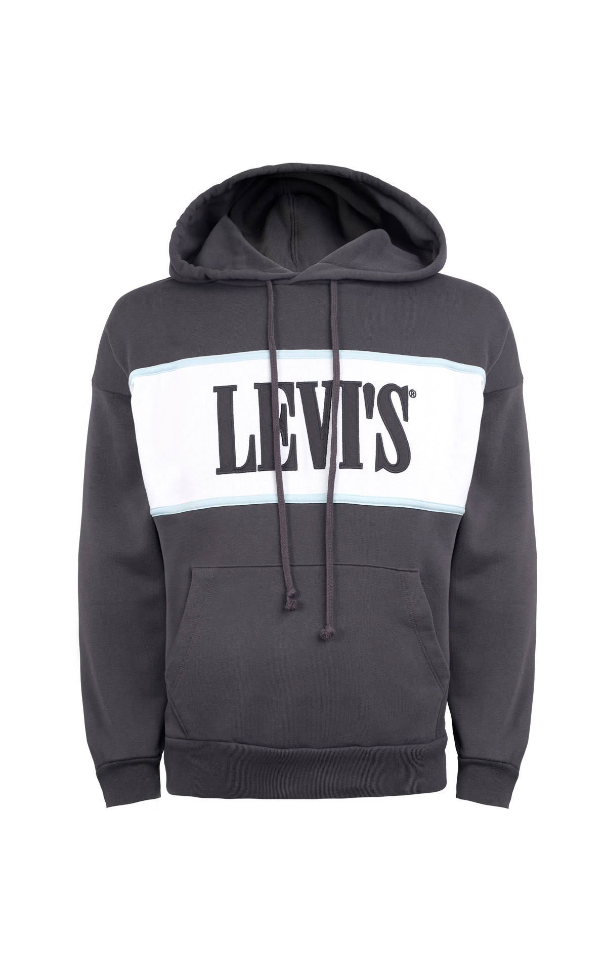 Dark grey hoodie with logo Levi's