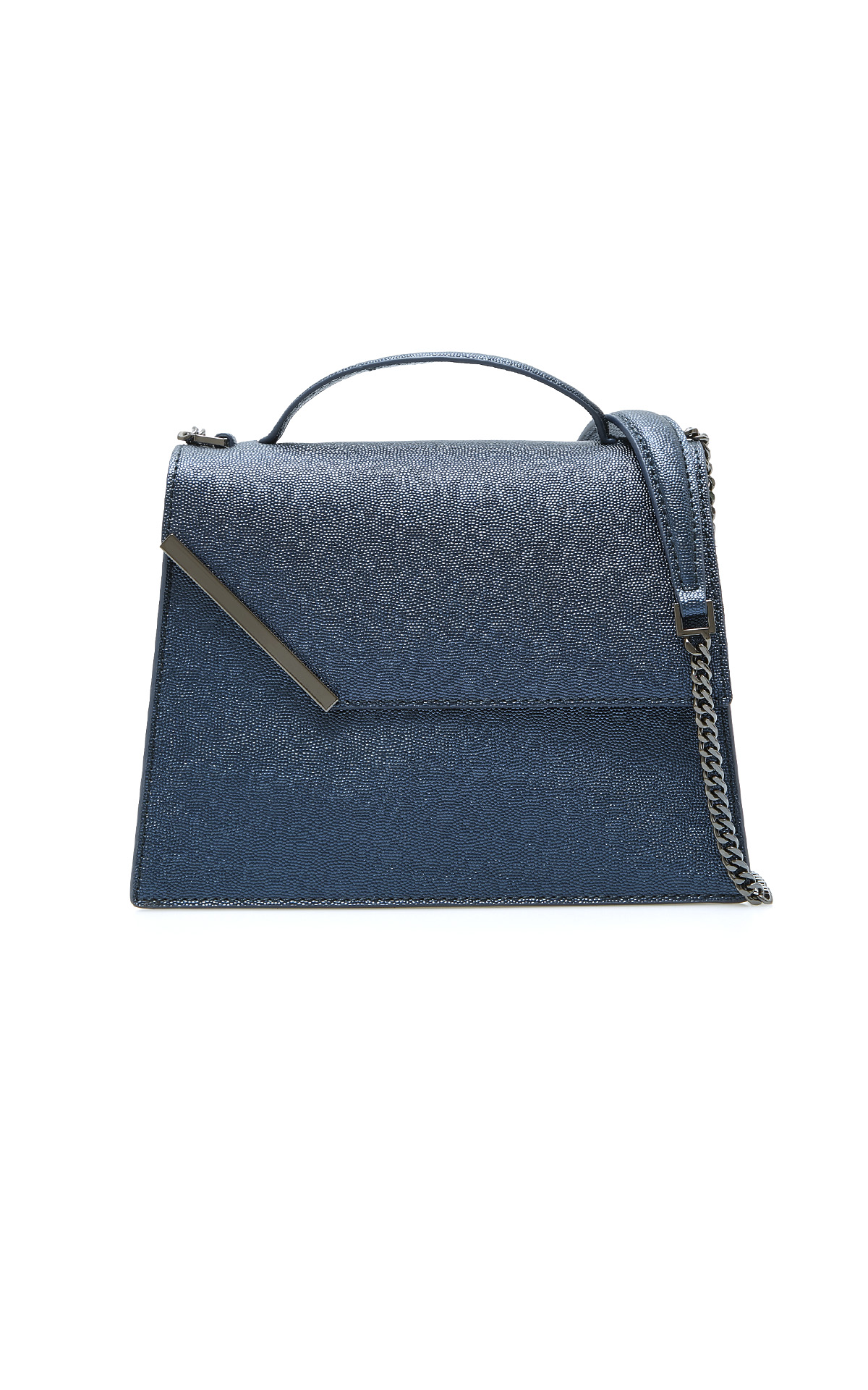 Blue leather bag Purificacion Garcia