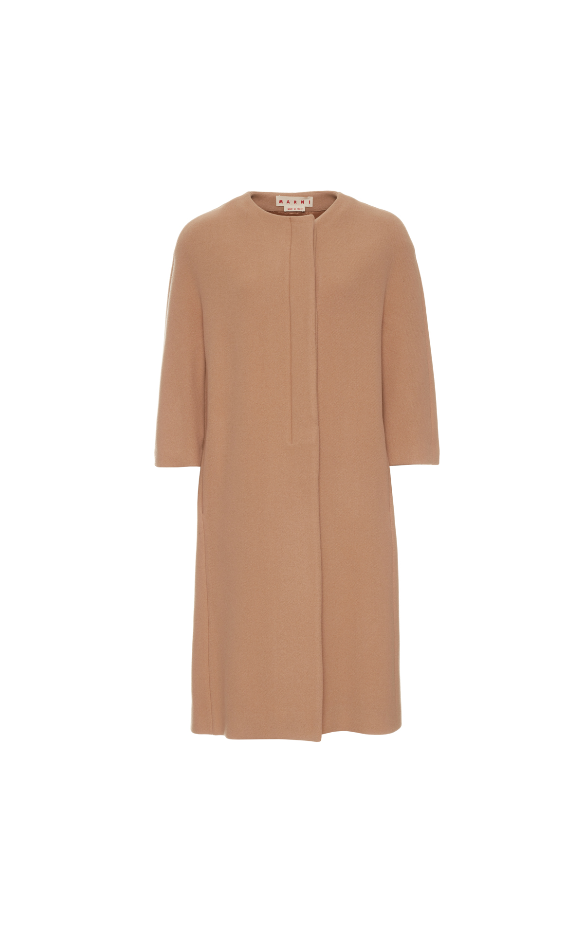 Marni Coat diagonal felt caramel from Bicester Village