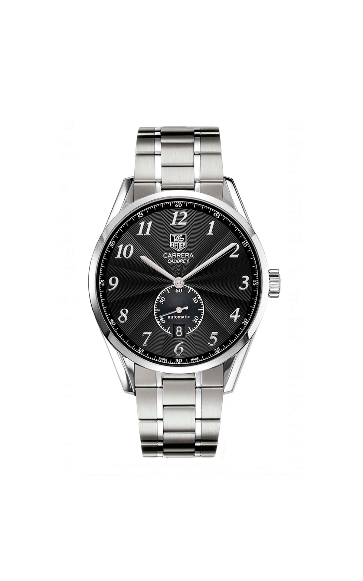 Silver and black Carrera watch TAG Heuer