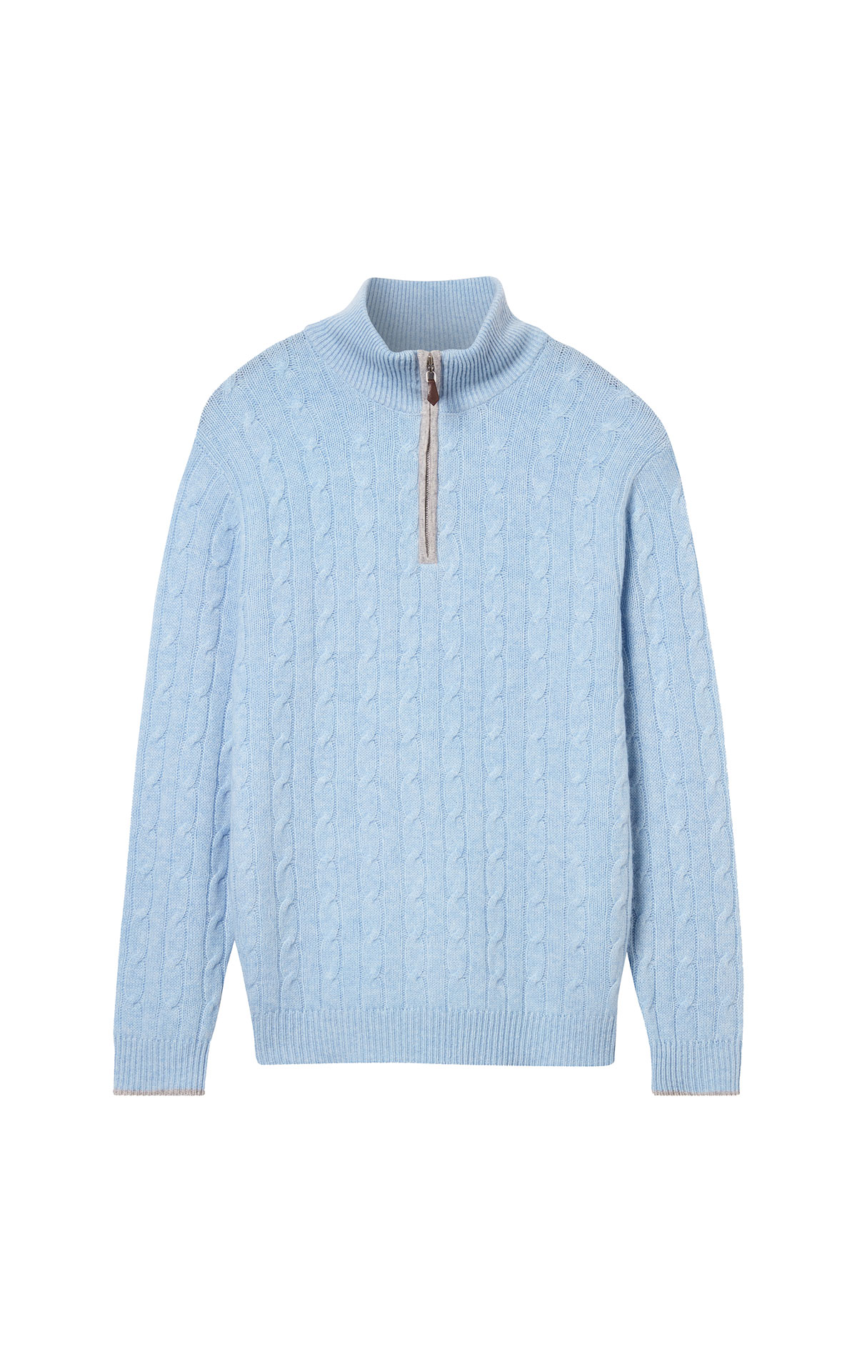 N. Peal Cable 1/2 zip sweater from Bicester Village
