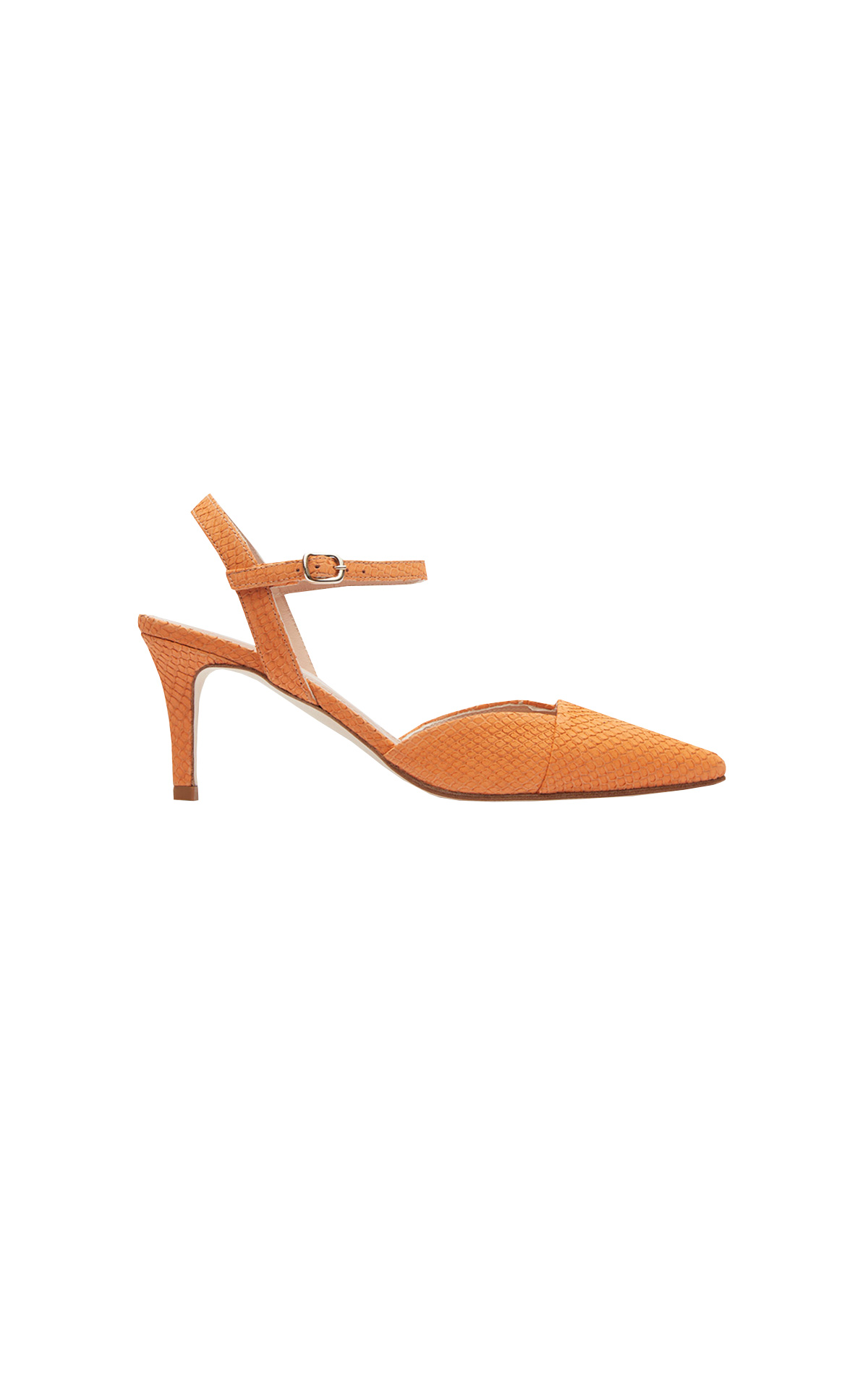 Orange high heel shoe Lottusse