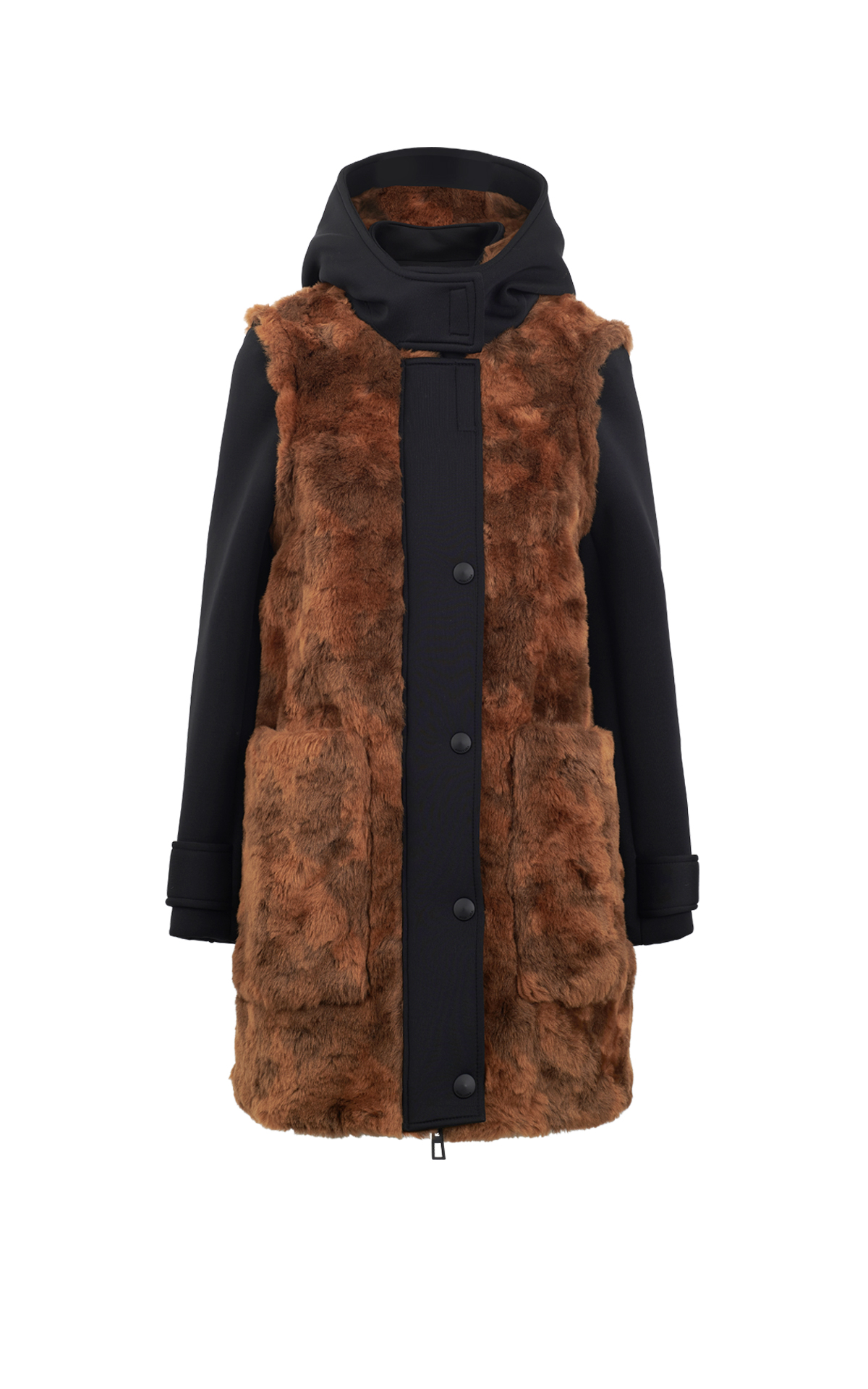 Long coat with brown fur Bimba y Lola