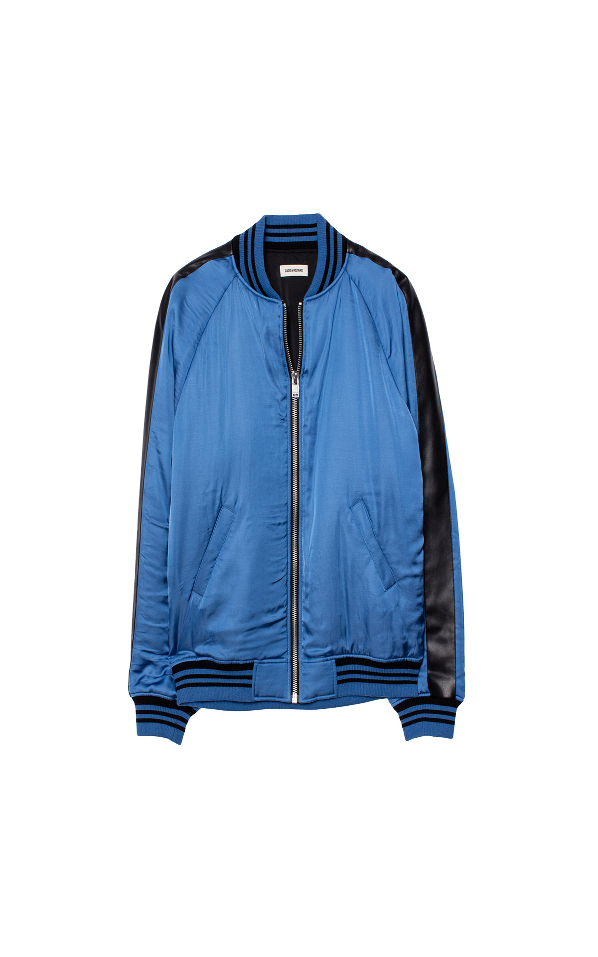 Zadig & Voltaire Blue satin bomber from Bicester Village