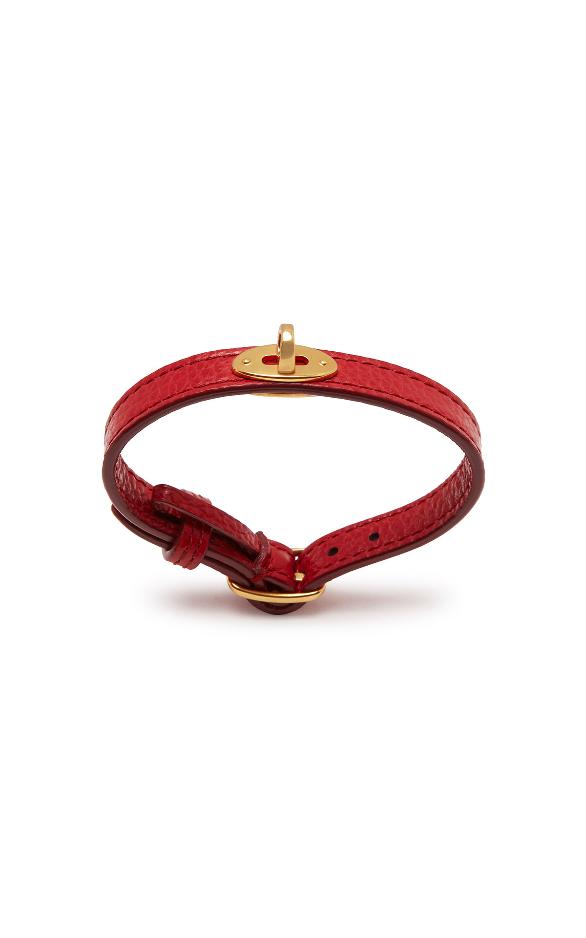 Mulberry Bayswater new thin 10mm leather bracelet scarlet from Bicester Village