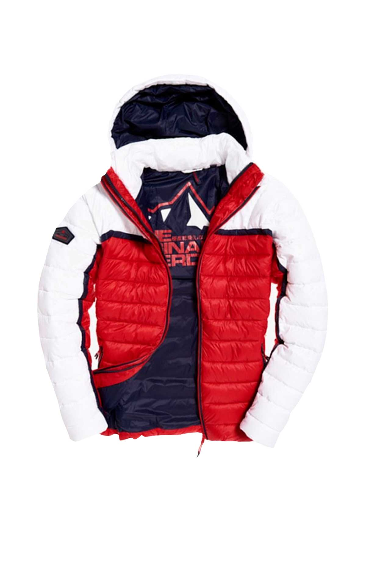 Red and white jacket Superdry
