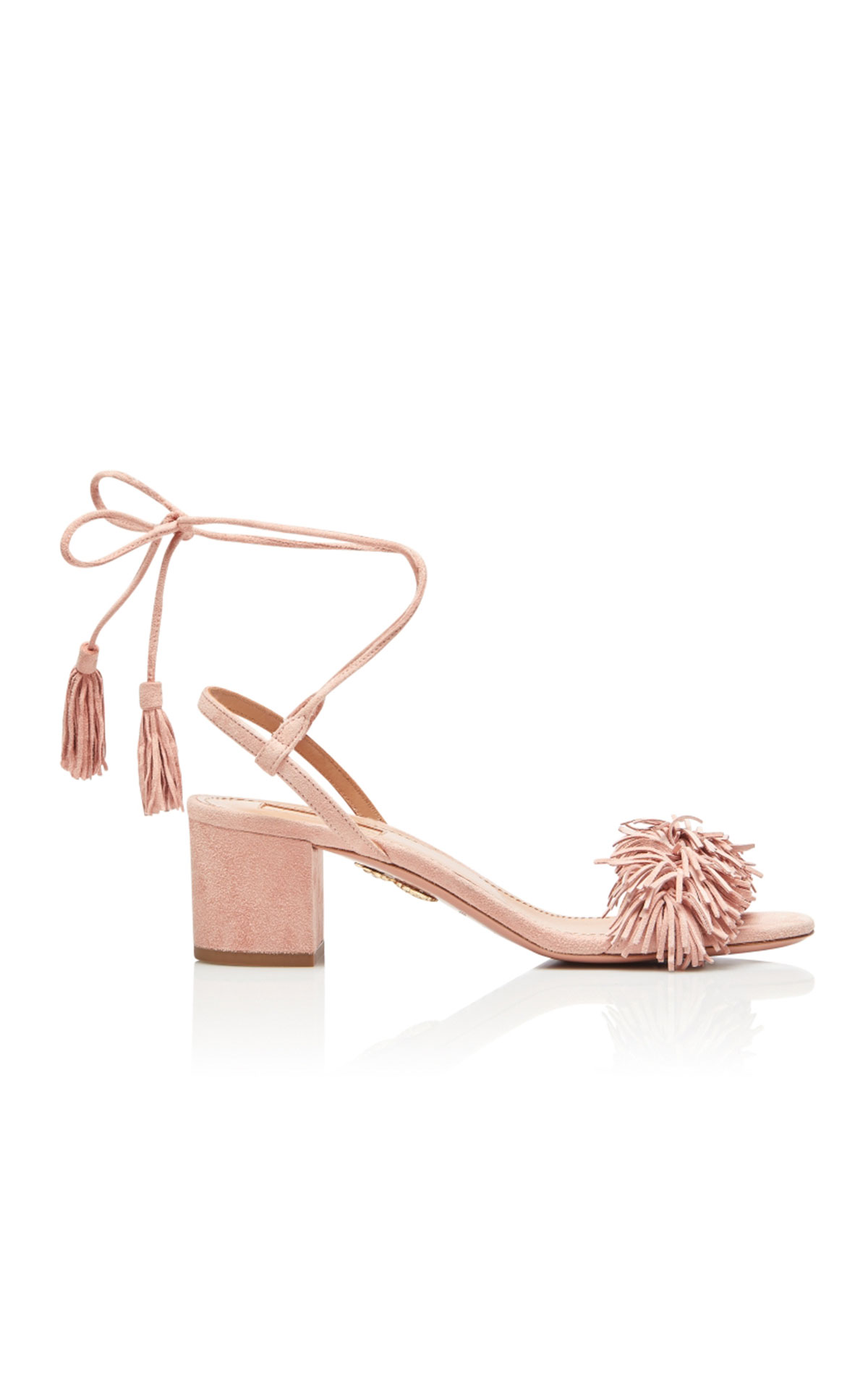 Aquazzura Wild thing 50 french rose suede leather from Bicester Village