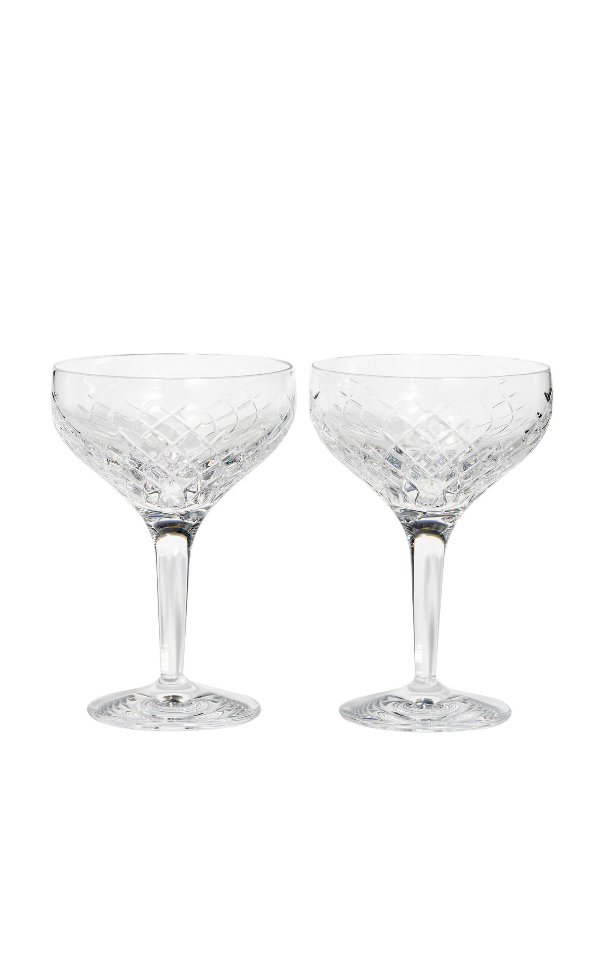 Soho Home Barwell cut crystal champagne coupe, set of two from Bicester Village