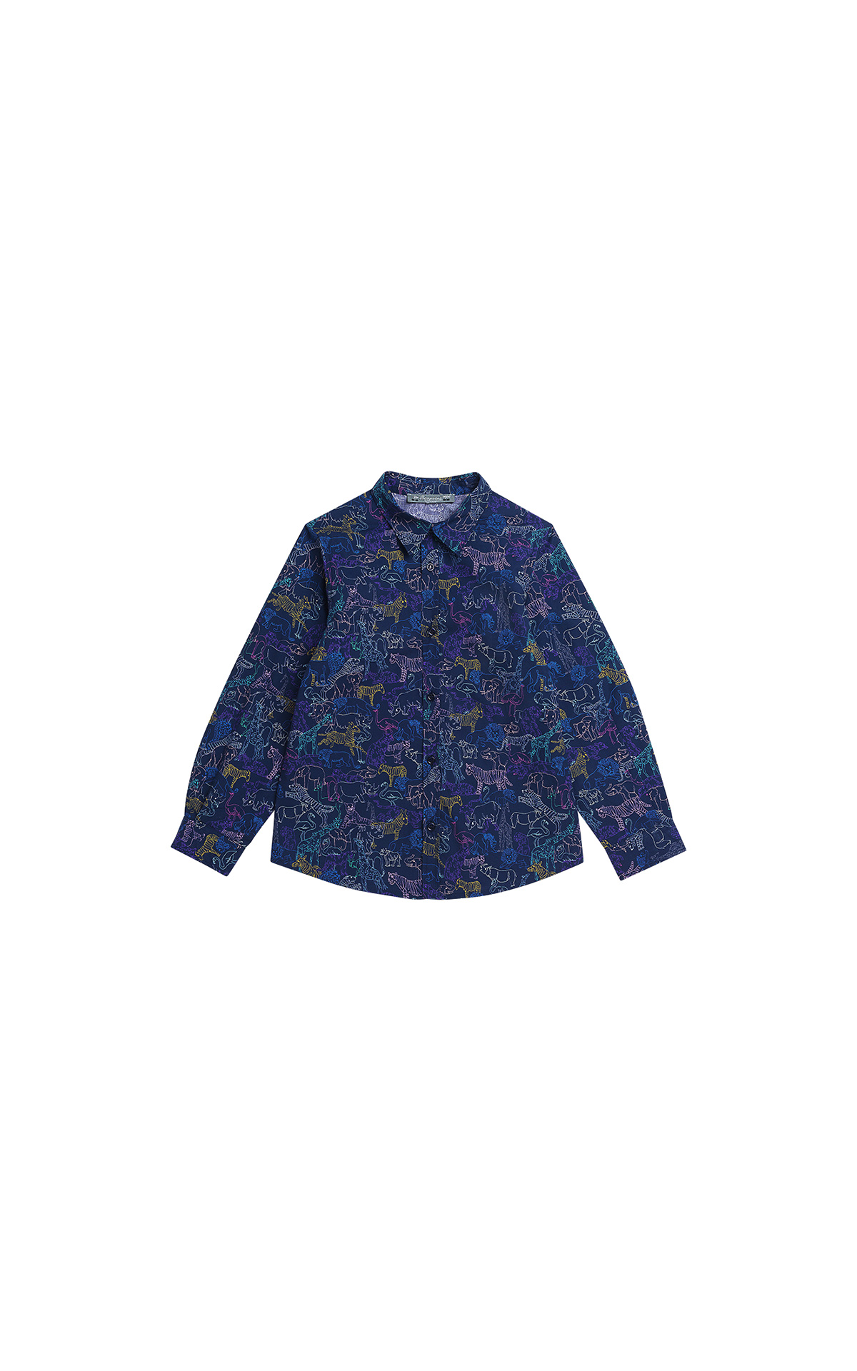 Bonpoint Boy's navy print shirt | La Vallée Village