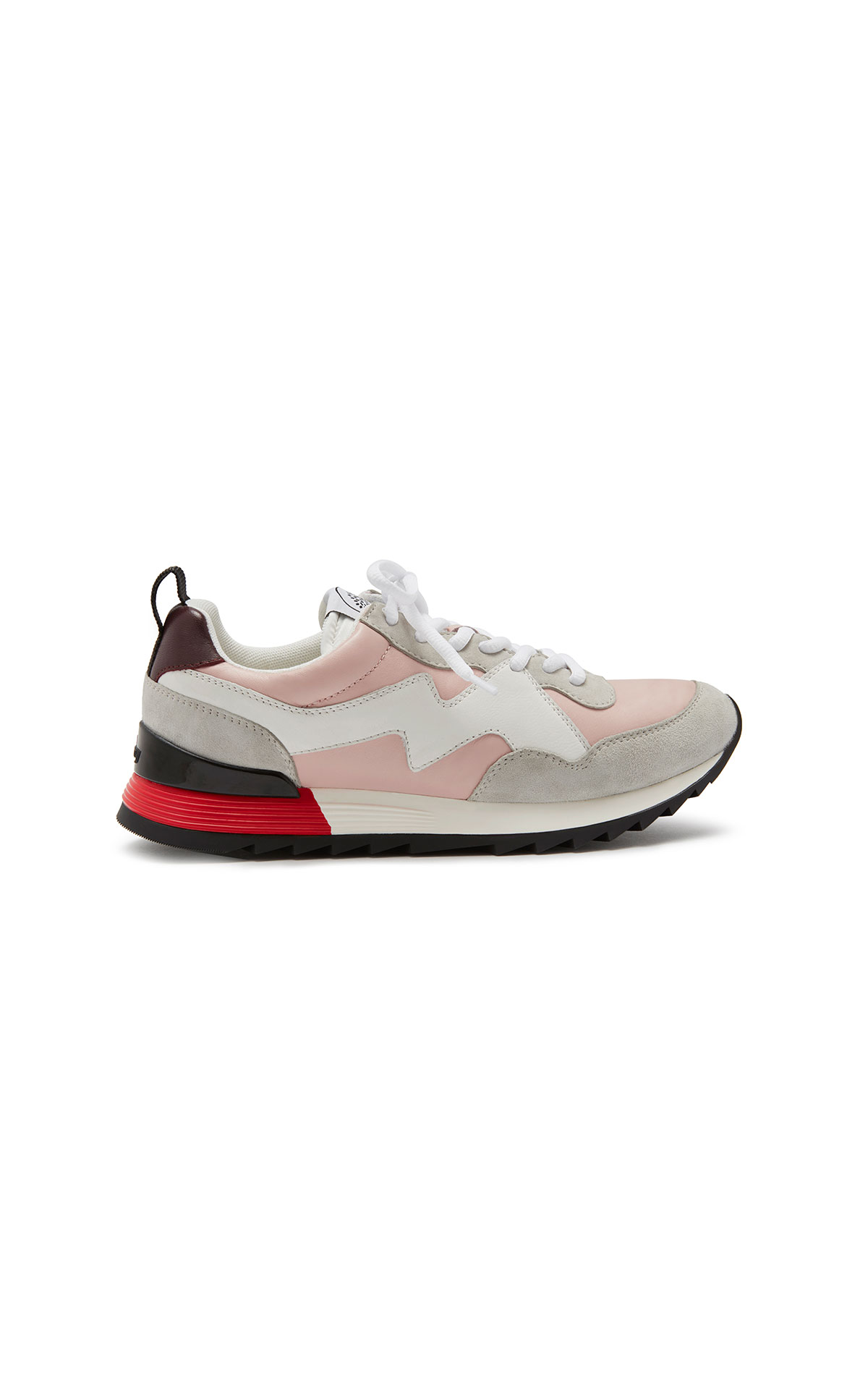 Mulberry My-1 lace-up sneaker soft lamb nappa icy pink-white from Bicester Village