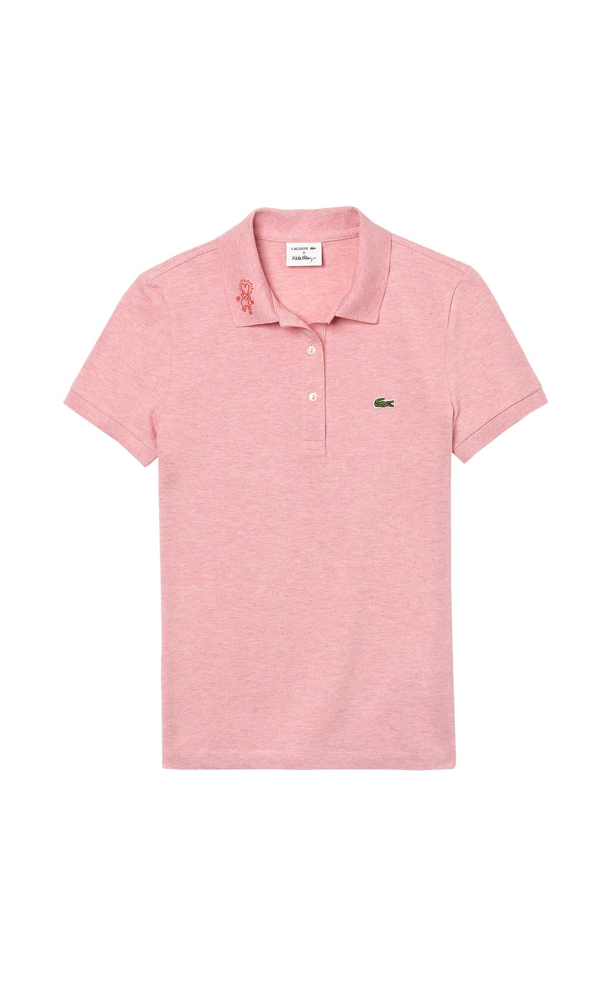 Light piink cotton polo shirt for woman Lacoste